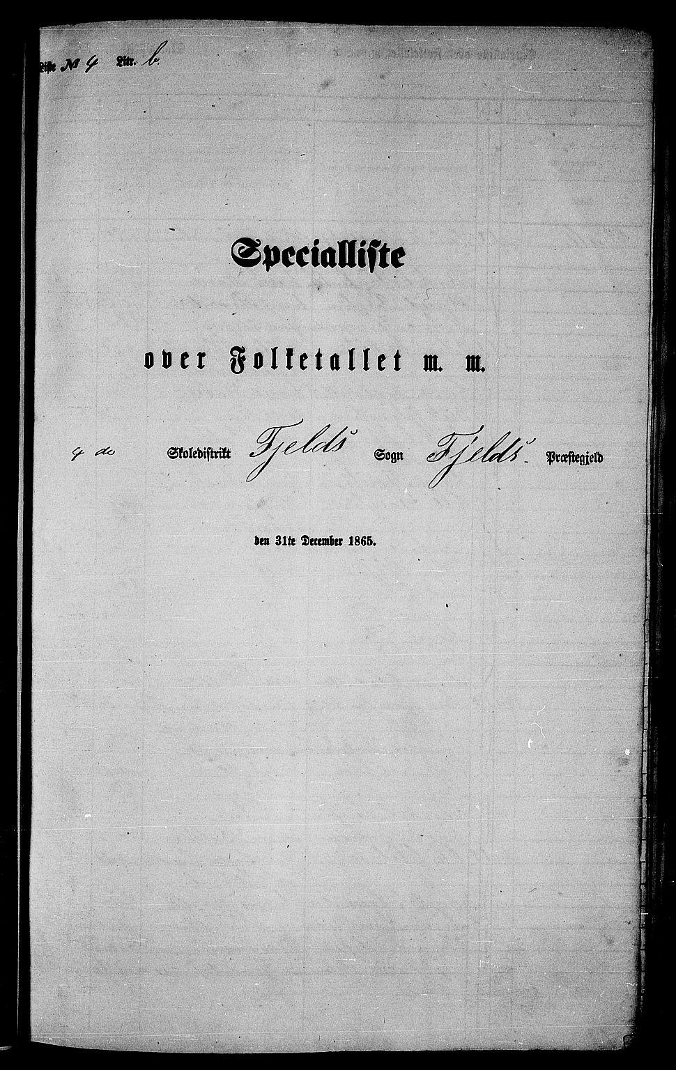 RA, Folketelling 1865 for 1246P Fjell prestegjeld, 1865, s. 73