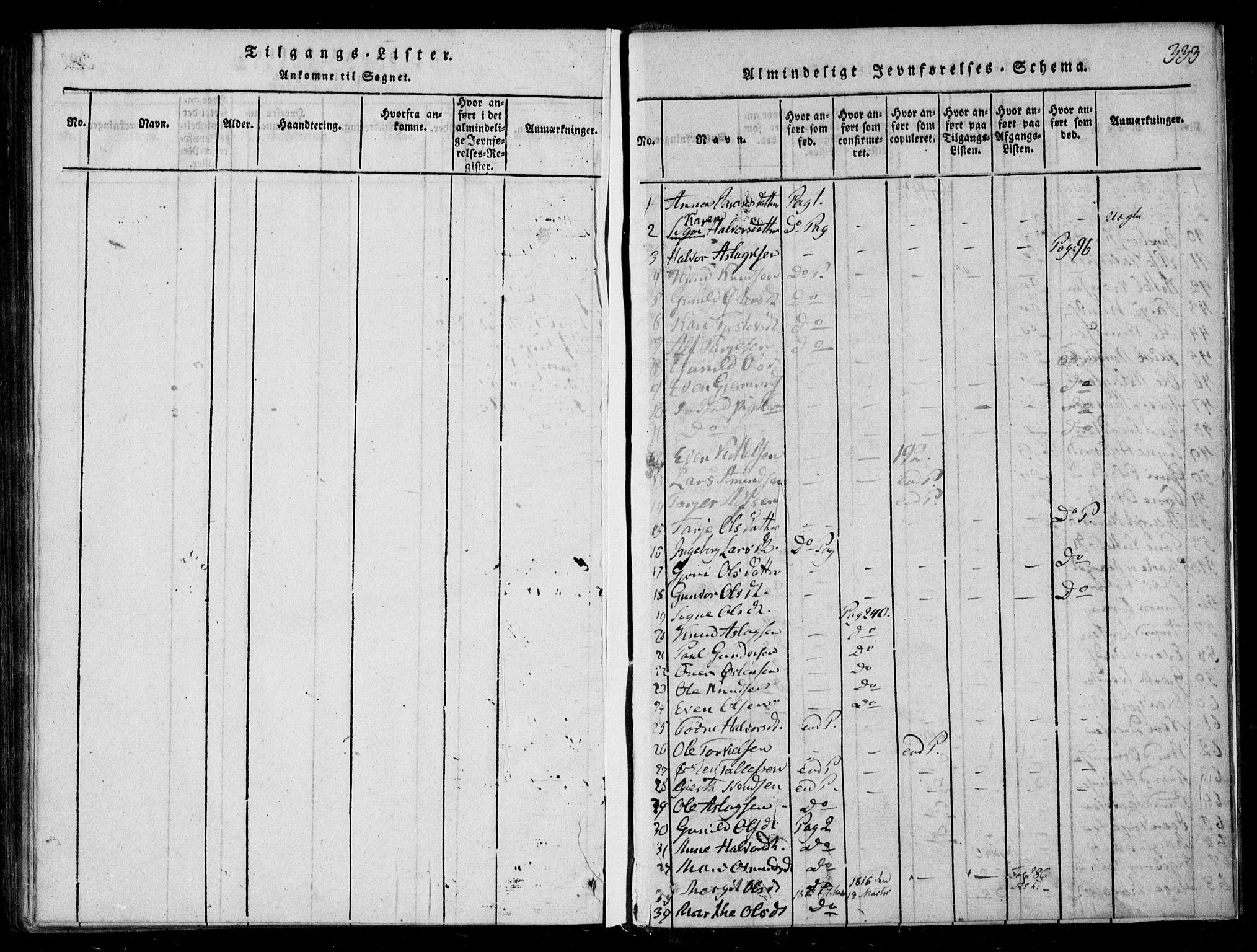 SAKO, Lårdal kirkebøker, F/Fb/L0001: Ministerialbok nr. II 1, 1815-1860, s. 333