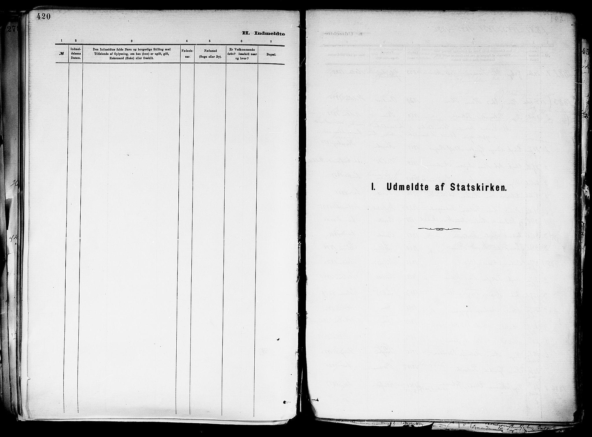 SAKO, Holla kirkebøker, F/Fa/L0008: Ministerialbok nr. 8, 1882-1897, s. 420