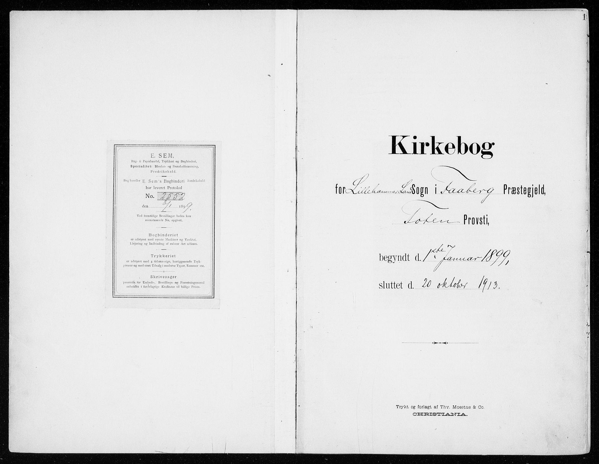 SAH, Fåberg prestekontor, Ministerialbok nr. 11, 1899-1913, s. 1