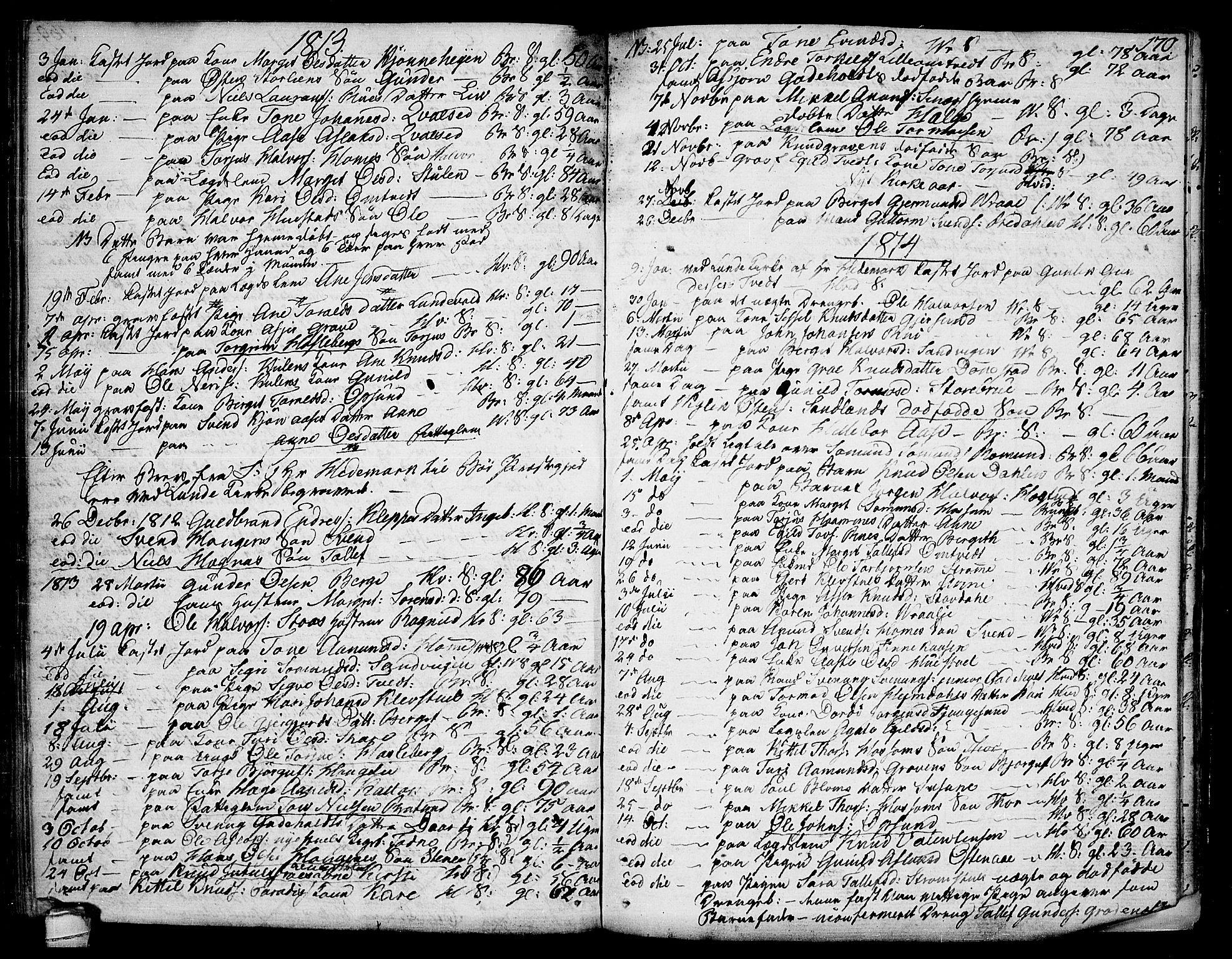 SAKO, Kviteseid kirkebøker, F/Fa/L0004: Ministerialbok nr. I 4, 1800-1814, s. 170