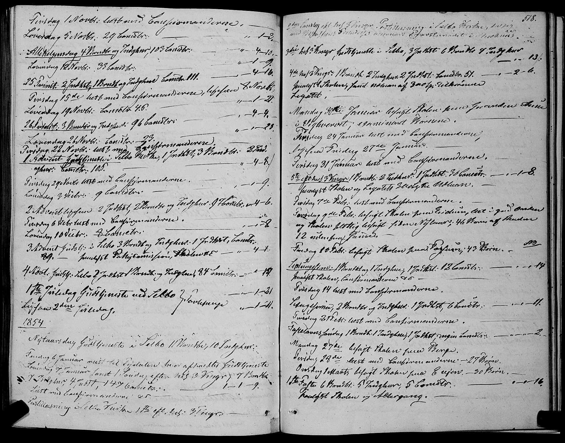 SAT, Ministerialprotokoller, klokkerbøker og fødselsregistre - Sør-Trøndelag, 695/L1145: Ministerialbok nr. 695A06 /1, 1843-1859, s. 518
