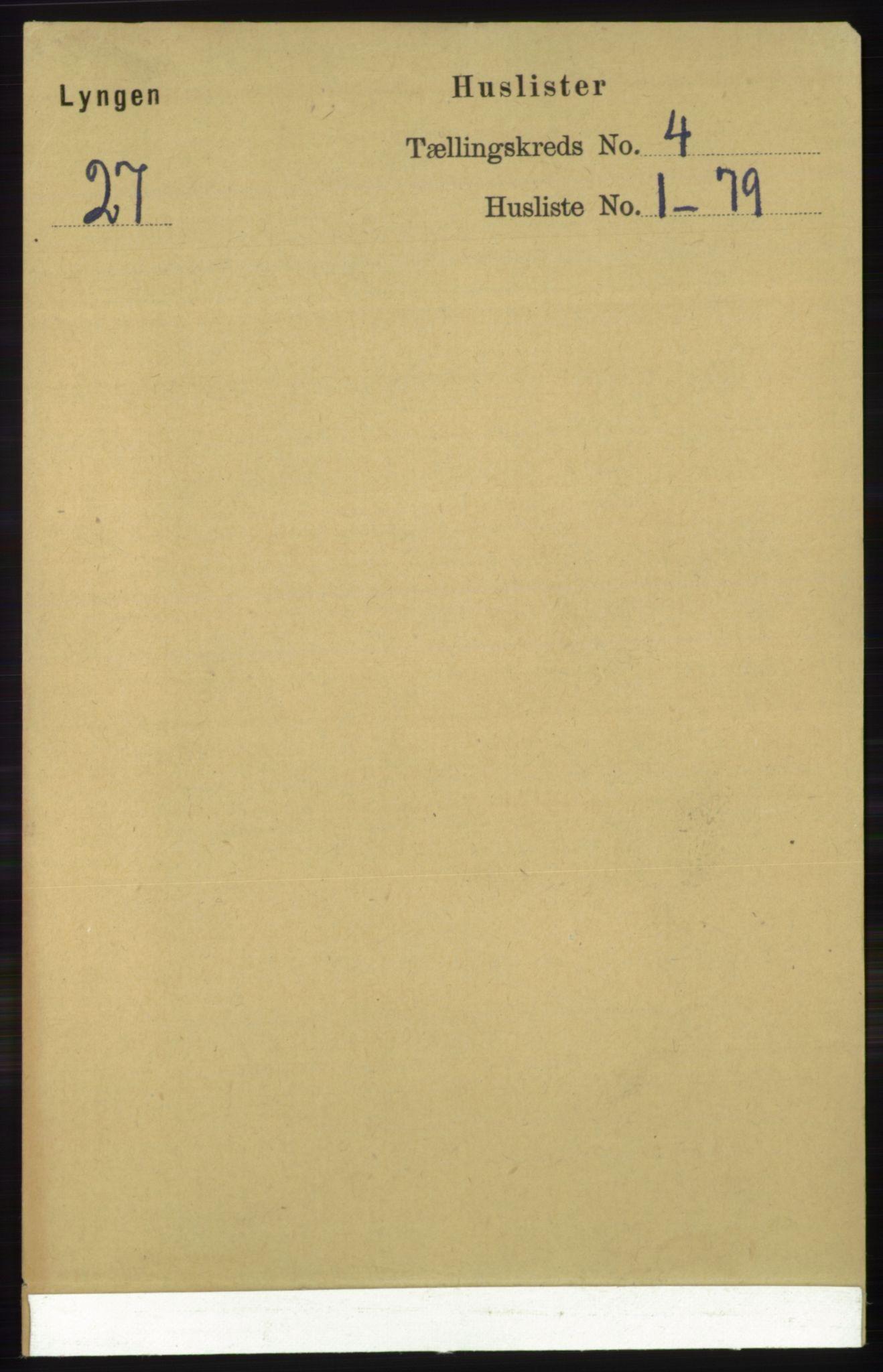 RA, Folketelling 1891 for 1938 Lyngen herred, 1891, s. 3584