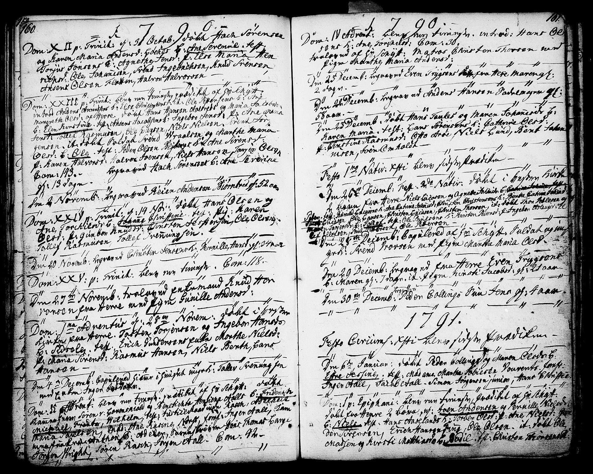 SAKO, Porsgrunn kirkebøker , F/Fa/L0002: Ministerialbok nr. 2, 1764-1814, s. 160-161