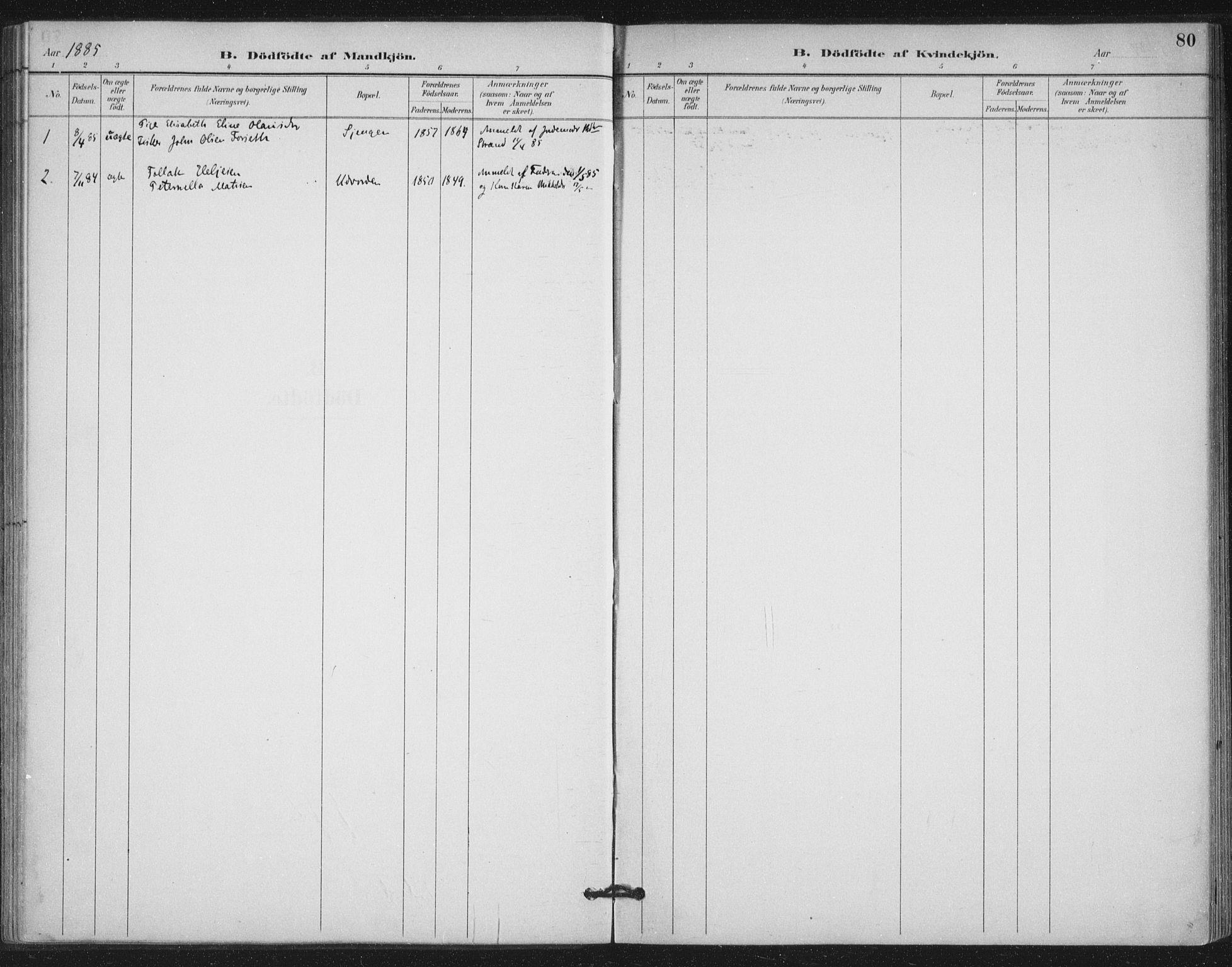 SAT, Ministerialprotokoller, klokkerbøker og fødselsregistre - Nord-Trøndelag, 772/L0603: Ministerialbok nr. 772A01, 1885-1912, s. 80