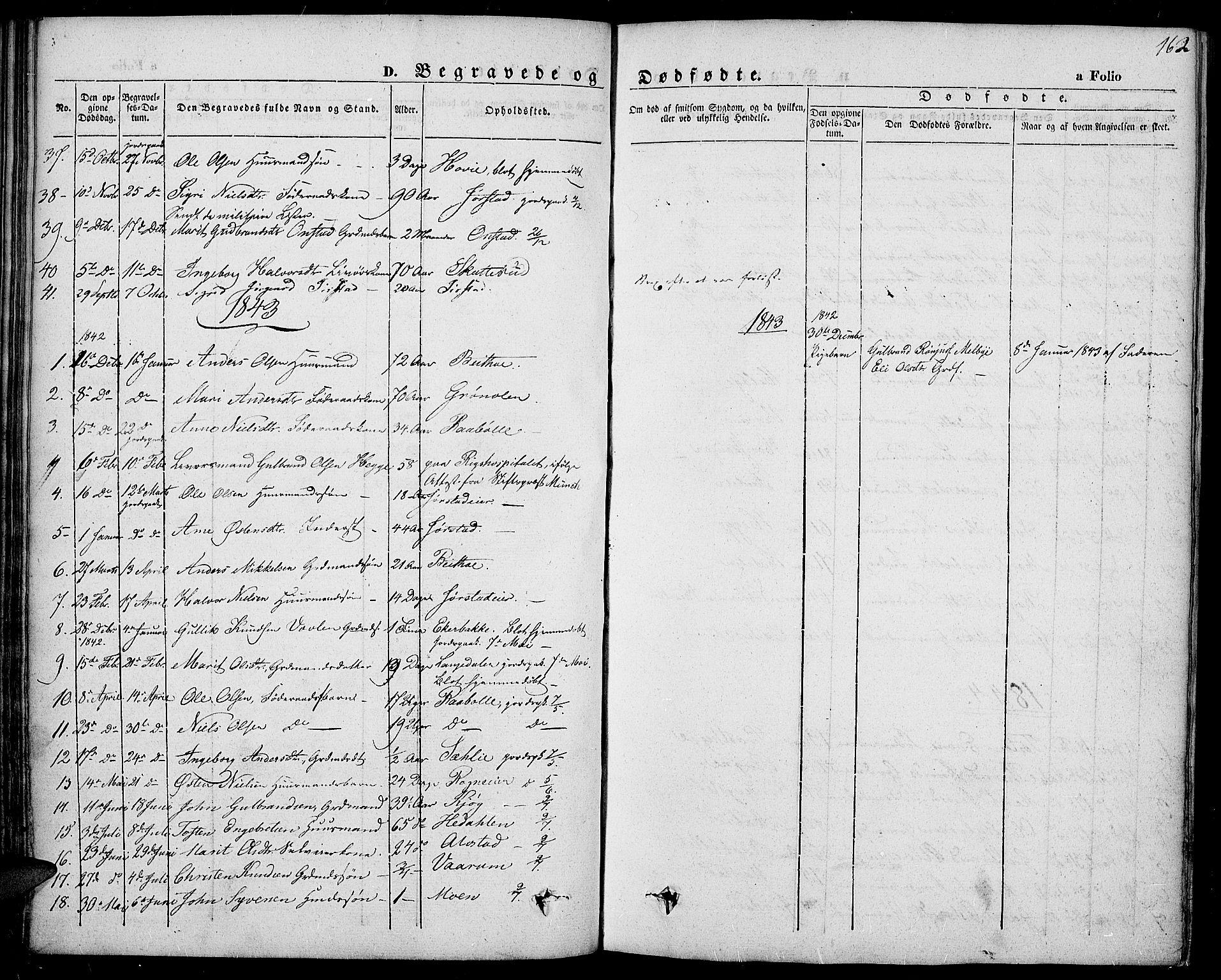 SAH, Slidre prestekontor, Ministerialbok nr. 4, 1831-1848, s. 162