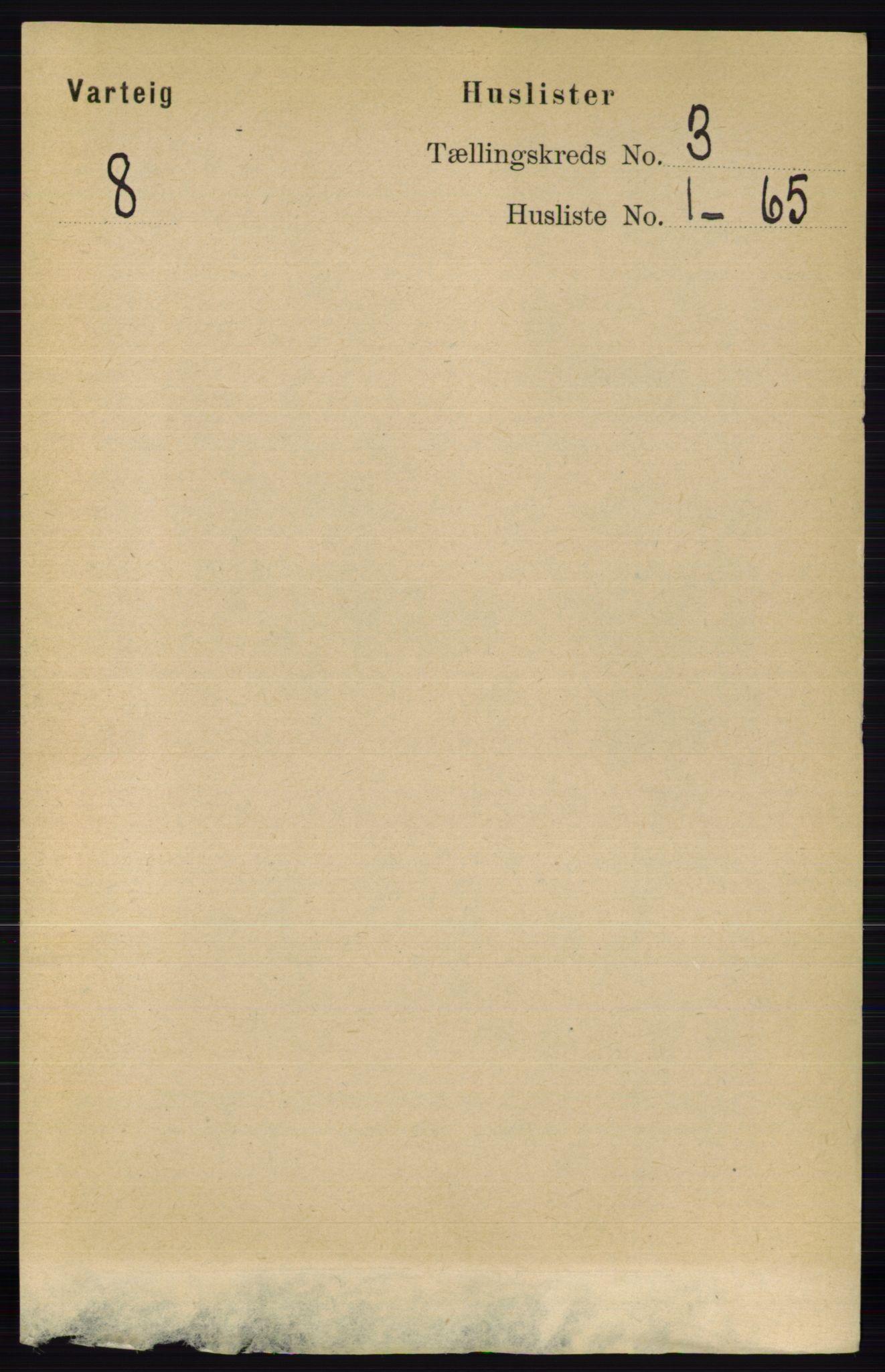 RA, Folketelling 1891 for 0114 Varteig herred, 1891, s. 1085