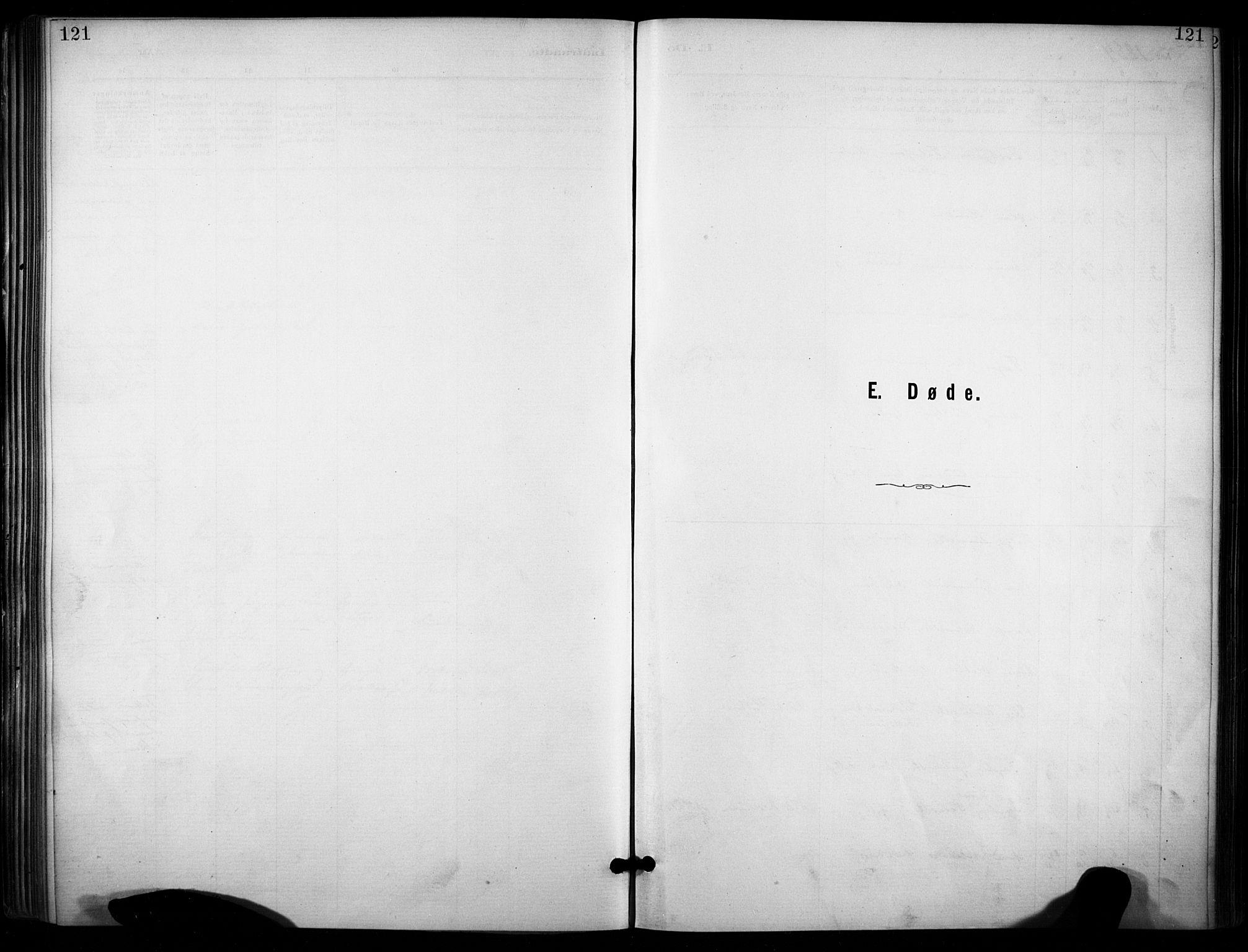 SAKO, Lunde kirkebøker, F/Fa/L0002: Ministerialbok nr. I 2, 1884-1892, s. 121