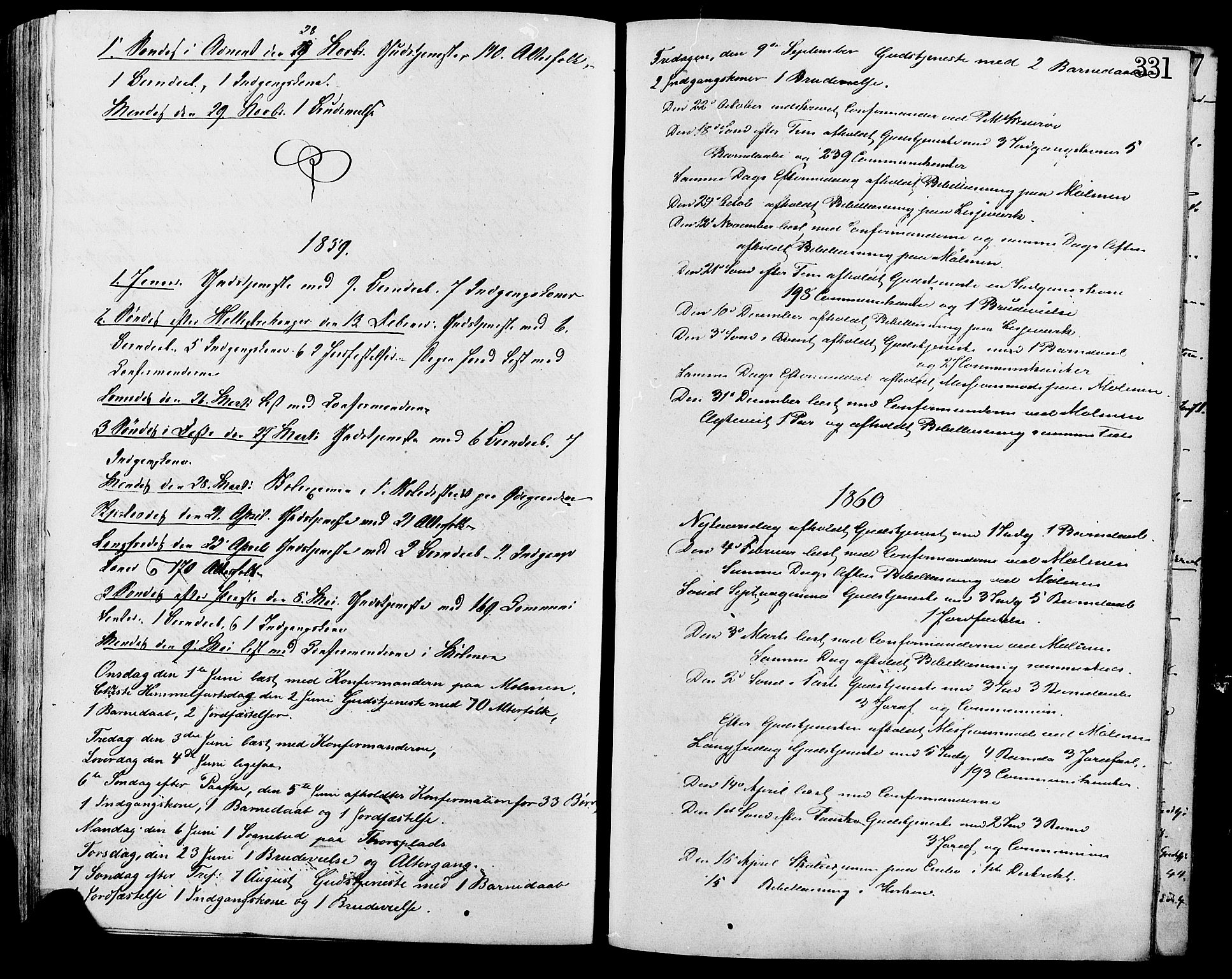 SAH, Lesja prestekontor, Ministerialbok nr. 9, 1854-1889, s. 331