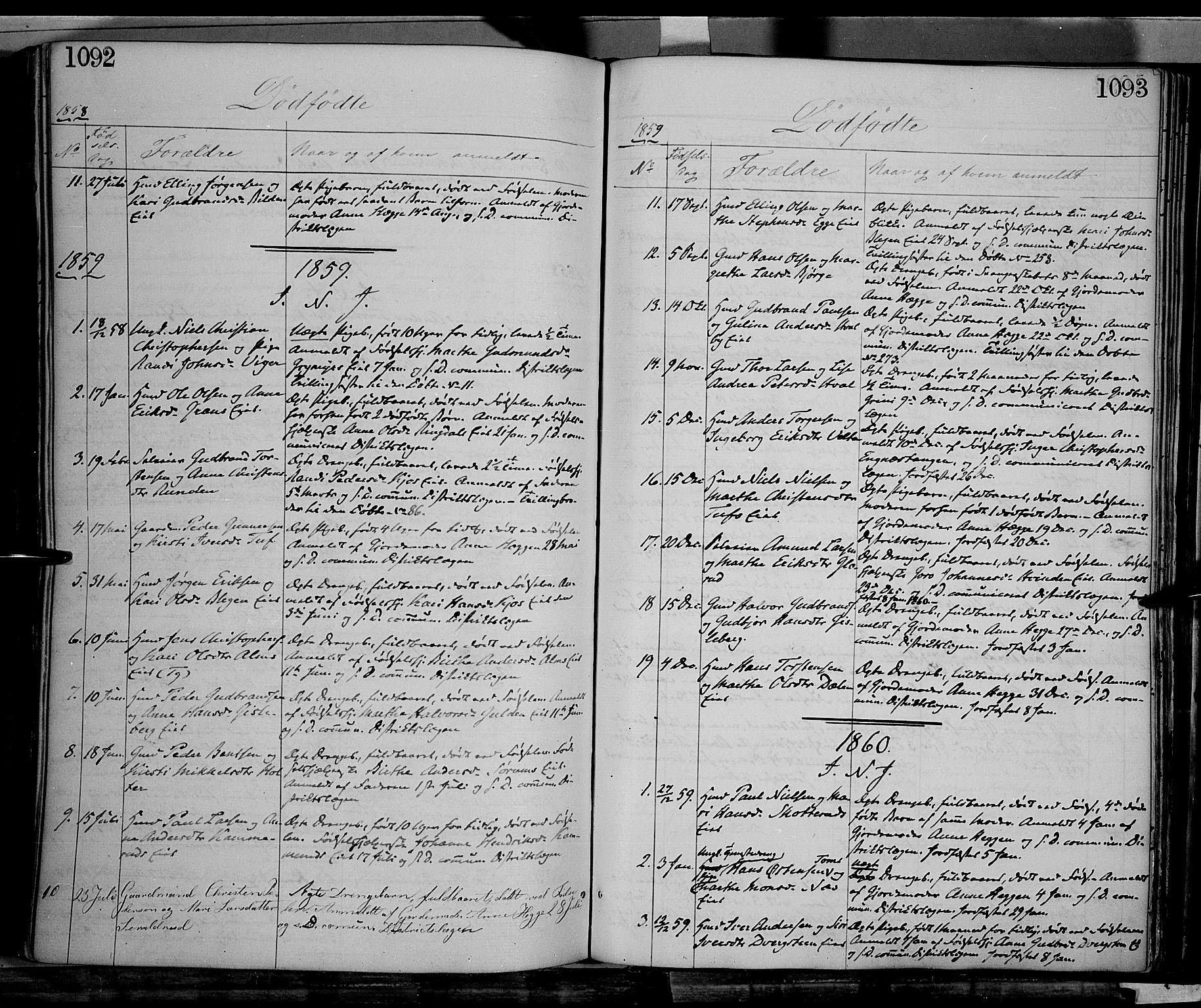 SAH, Gran prestekontor, Ministerialbok nr. 12, 1856-1874, s. 1092-1093