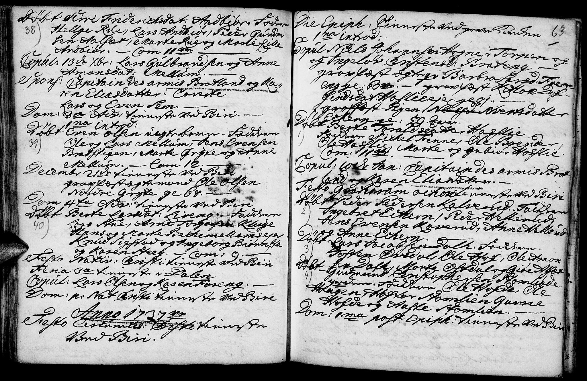 SAH, Biri prestekontor, Ministerialbok nr. 1, 1730-1754, s. 63