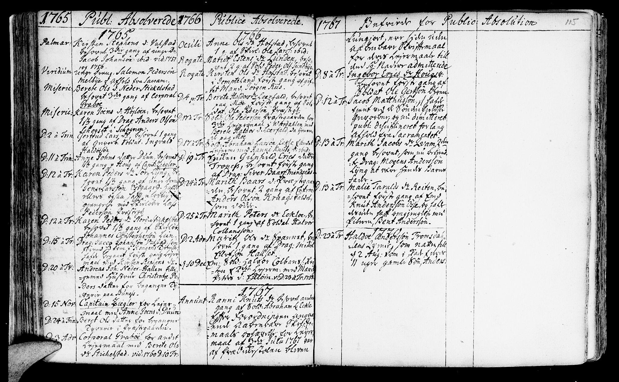 SAT, Ministerialprotokoller, klokkerbøker og fødselsregistre - Nord-Trøndelag, 723/L0231: Ministerialbok nr. 723A02, 1748-1780, s. 115