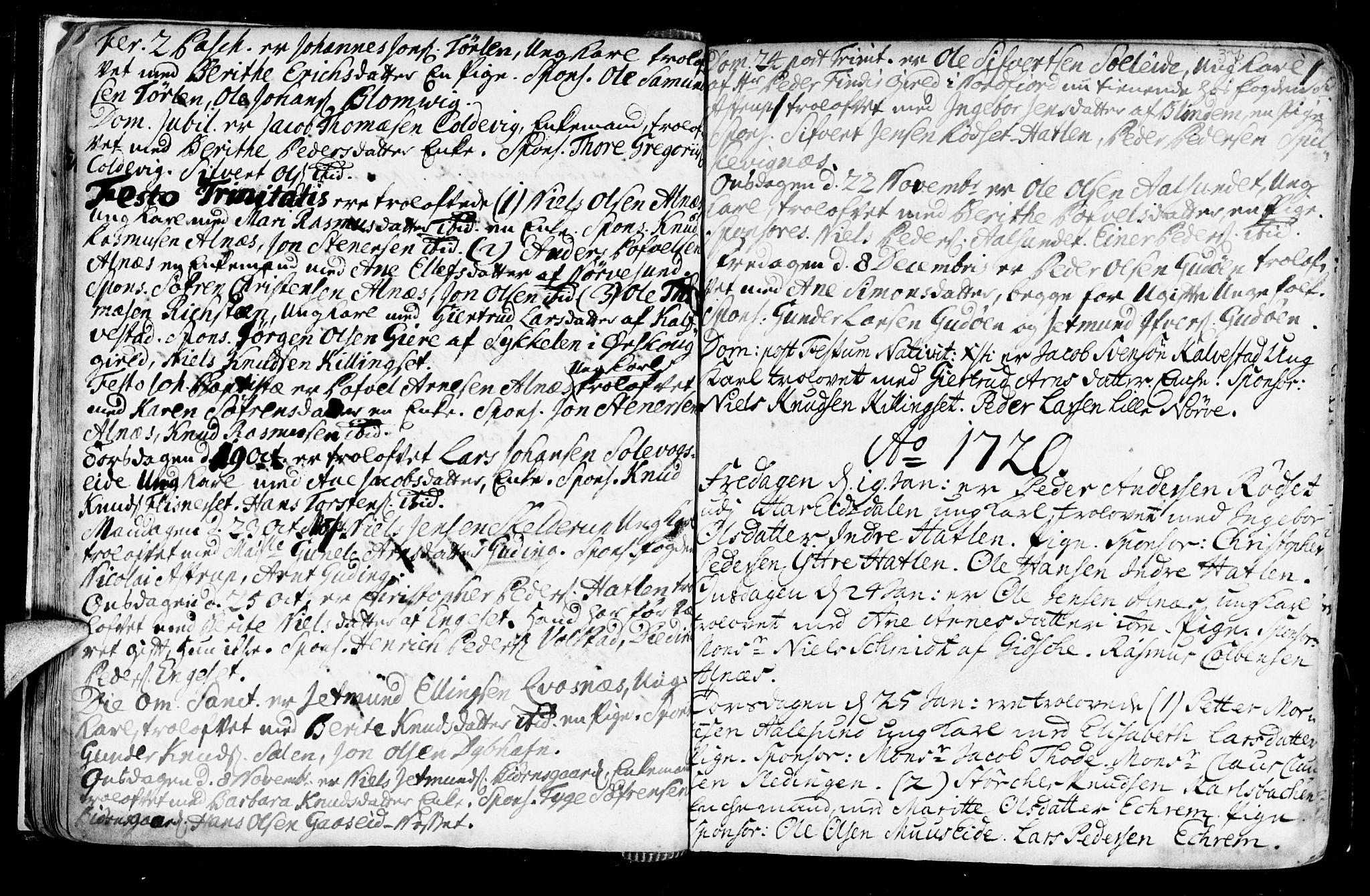 SAT, Ministerialprotokoller, klokkerbøker og fødselsregistre - Møre og Romsdal, 528/L0390: Ministerialbok nr. 528A01, 1698-1739, s. 36-37