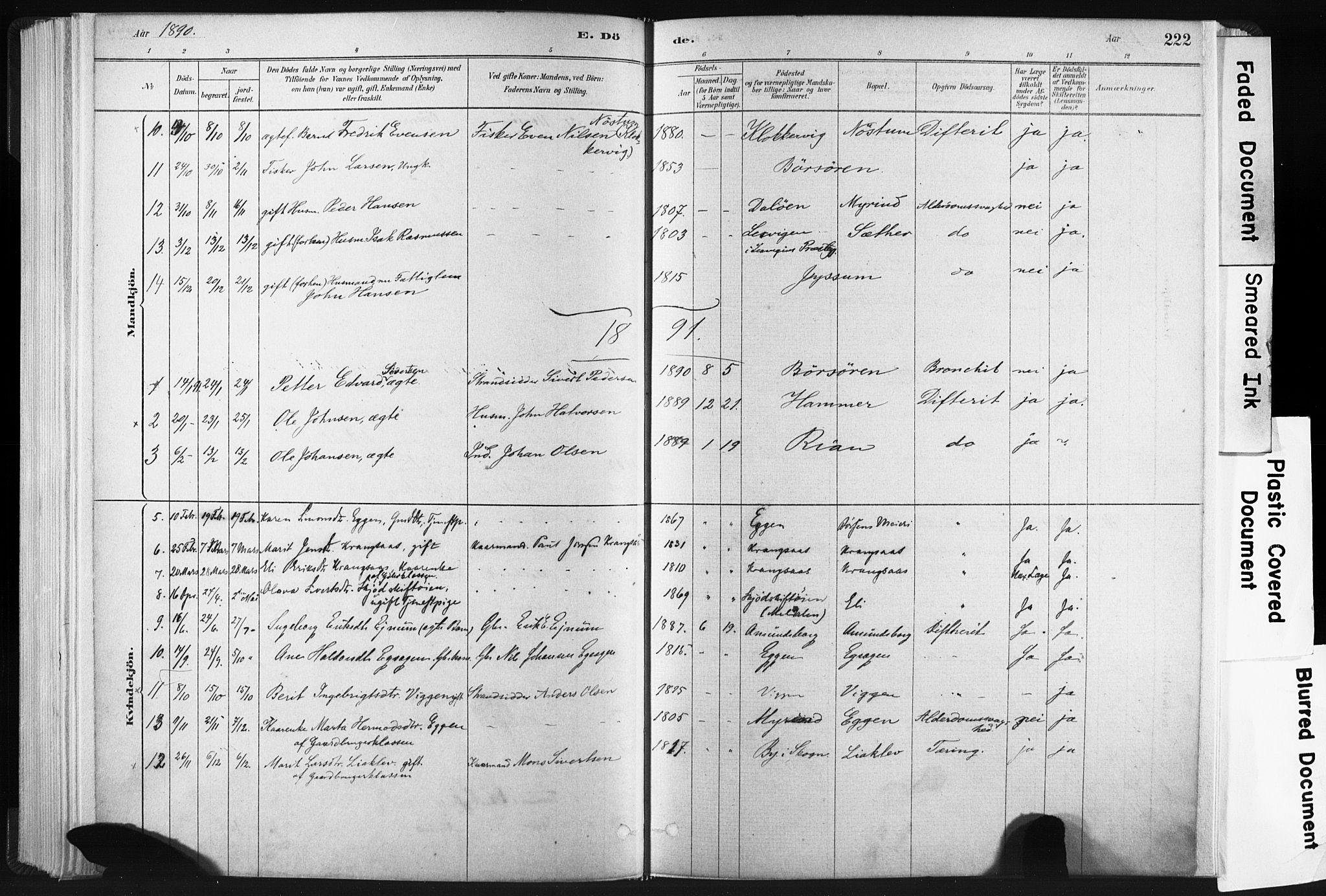 SAT, Ministerialprotokoller, klokkerbøker og fødselsregistre - Sør-Trøndelag, 665/L0773: Ministerialbok nr. 665A08, 1879-1905, s. 222