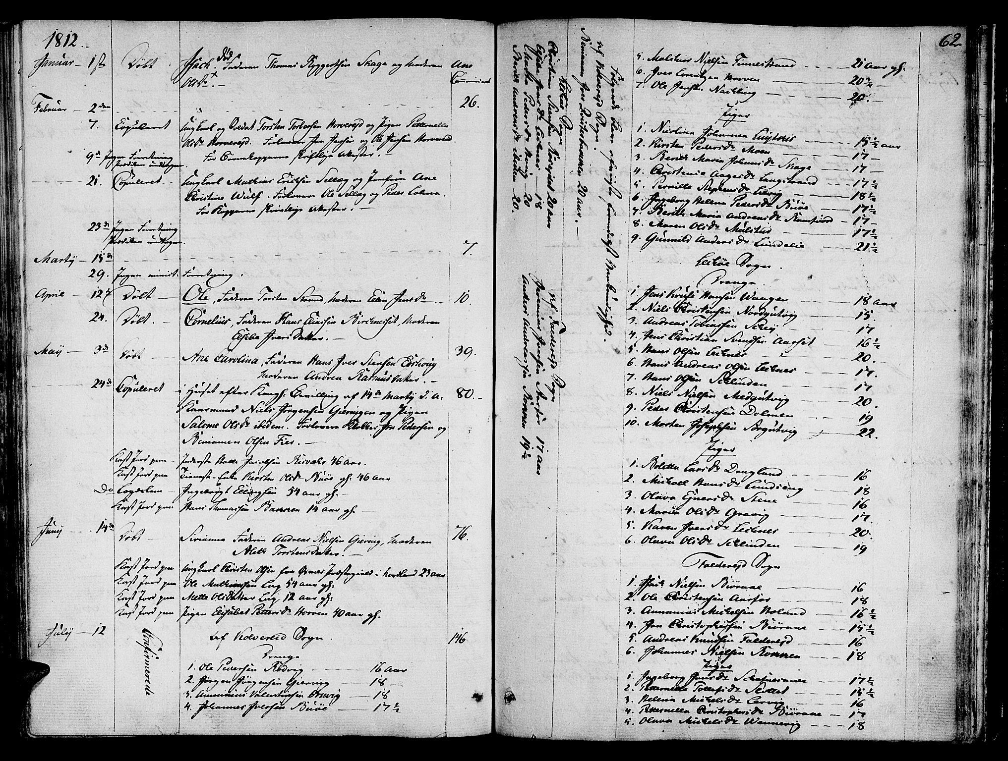 SAT, Ministerialprotokoller, klokkerbøker og fødselsregistre - Nord-Trøndelag, 780/L0633: Ministerialbok nr. 780A02 /1, 1787-1814, s. 62