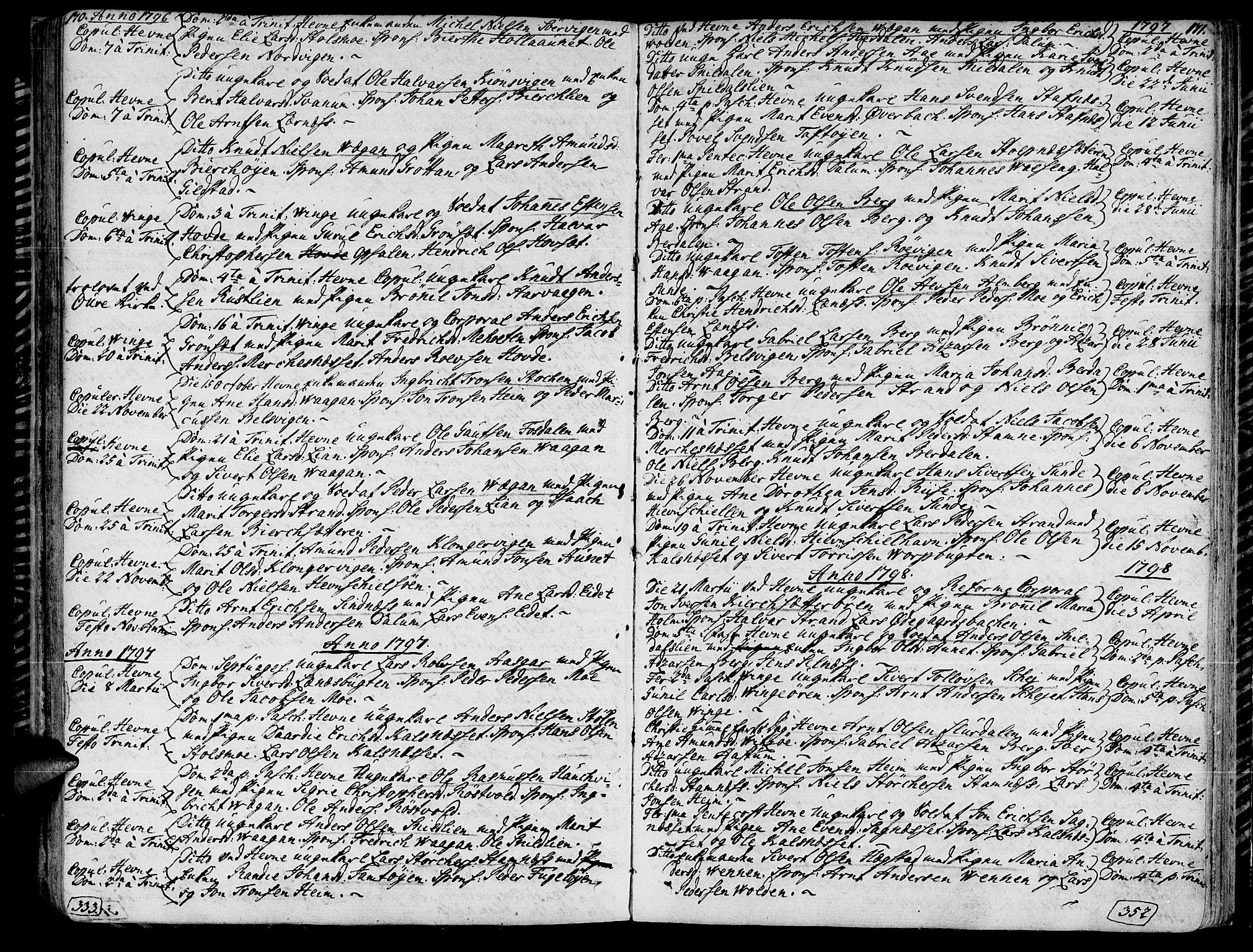 SAT, Ministerialprotokoller, klokkerbøker og fødselsregistre - Sør-Trøndelag, 630/L0490: Ministerialbok nr. 630A03, 1795-1818, s. 170-171