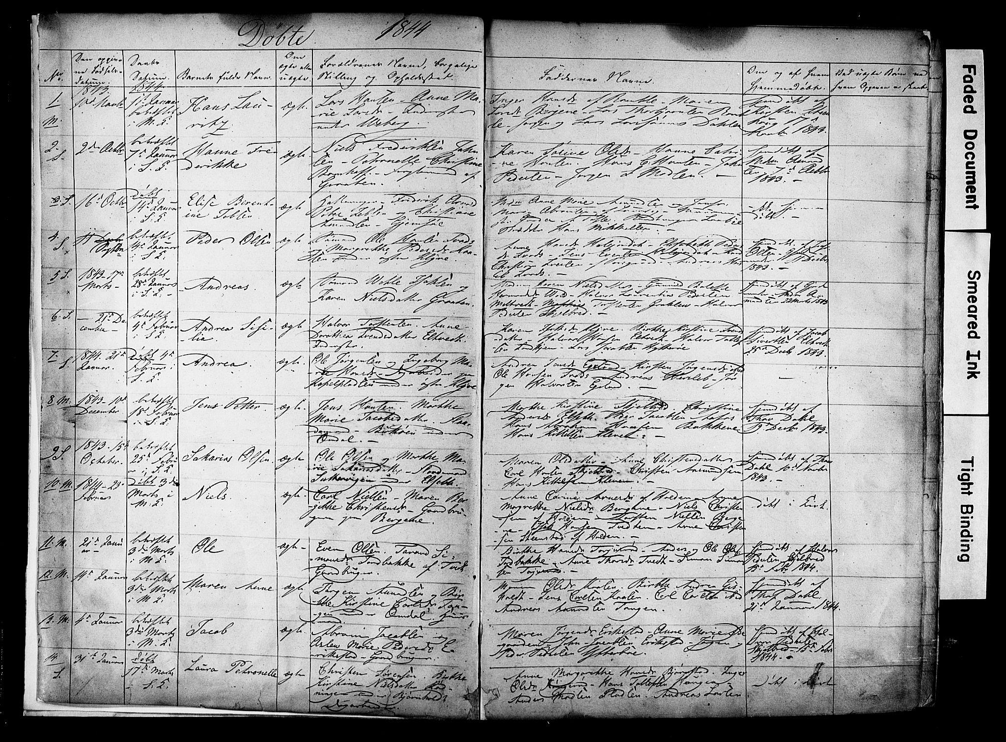 SAKO, Solum kirkebøker, F/Fa/L0006: Ministerialbok nr. I 6, 1844-1855, s. 2