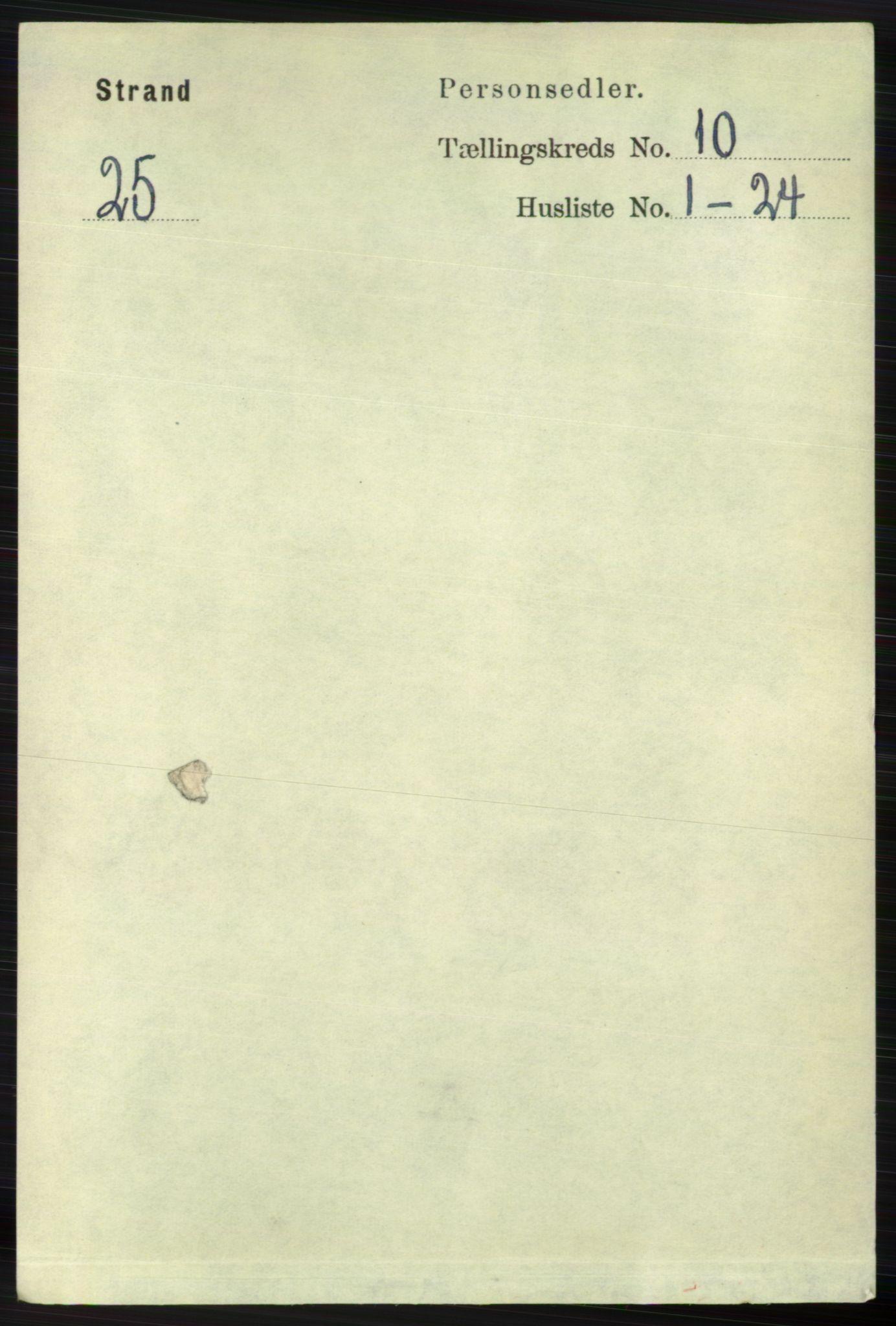 RA, Folketelling 1891 for 1130 Strand herred, 1891, s. 2730