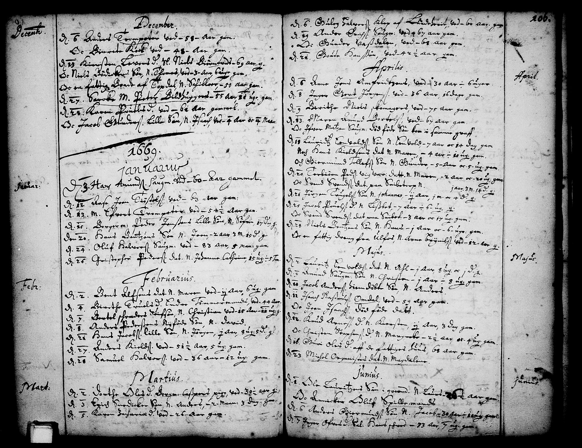 SAKO, Skien kirkebøker, F/Fa/L0001: Ministerialbok nr. 1, 1659-1679, s. 106