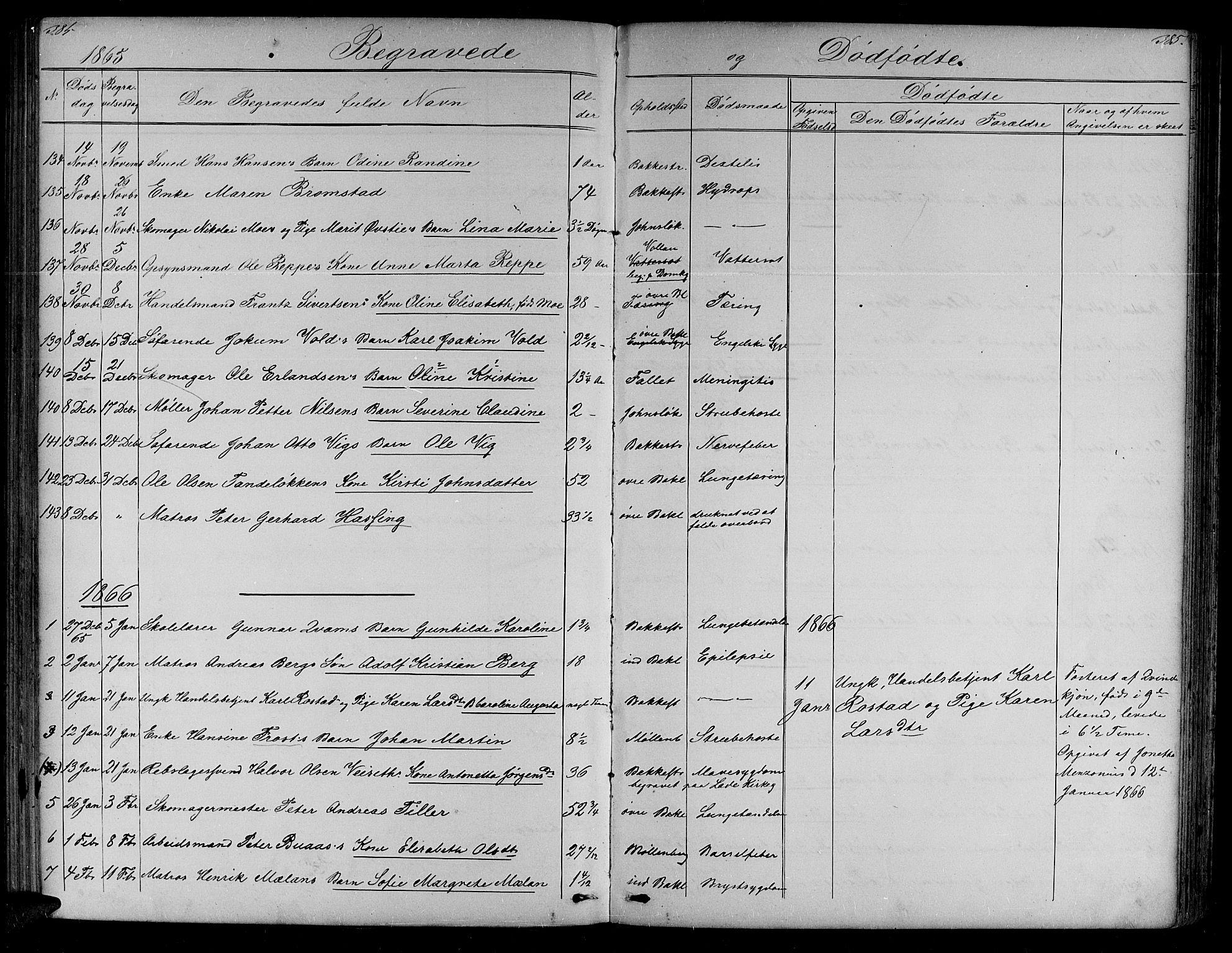 SAT, Ministerialprotokoller, klokkerbøker og fødselsregistre - Sør-Trøndelag, 604/L0219: Klokkerbok nr. 604C02, 1851-1869, s. 384-385