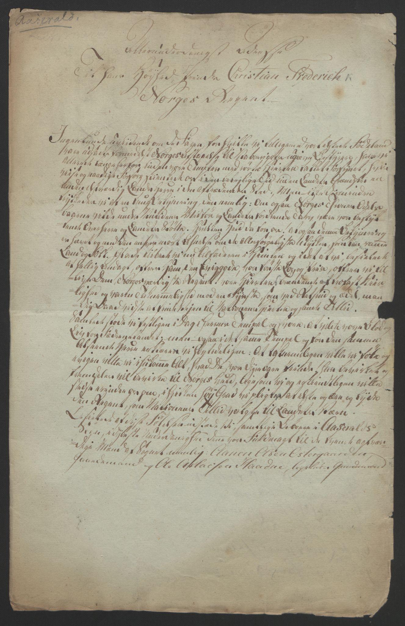 RA, Statsrådssekretariatet, D/Db/L0008: Fullmakter for Eidsvollsrepresentantene i 1814. , 1814, s. 108