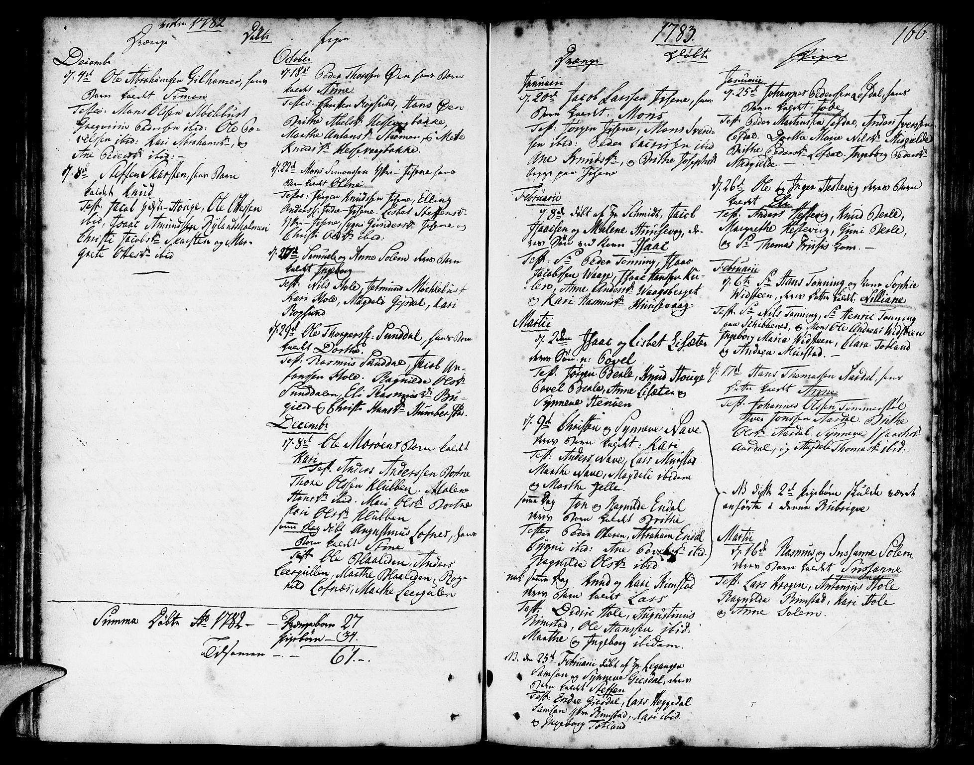 SAB, Davik Sokneprestembete, Ministerialbok nr. A 2, 1742-1816, s. 166