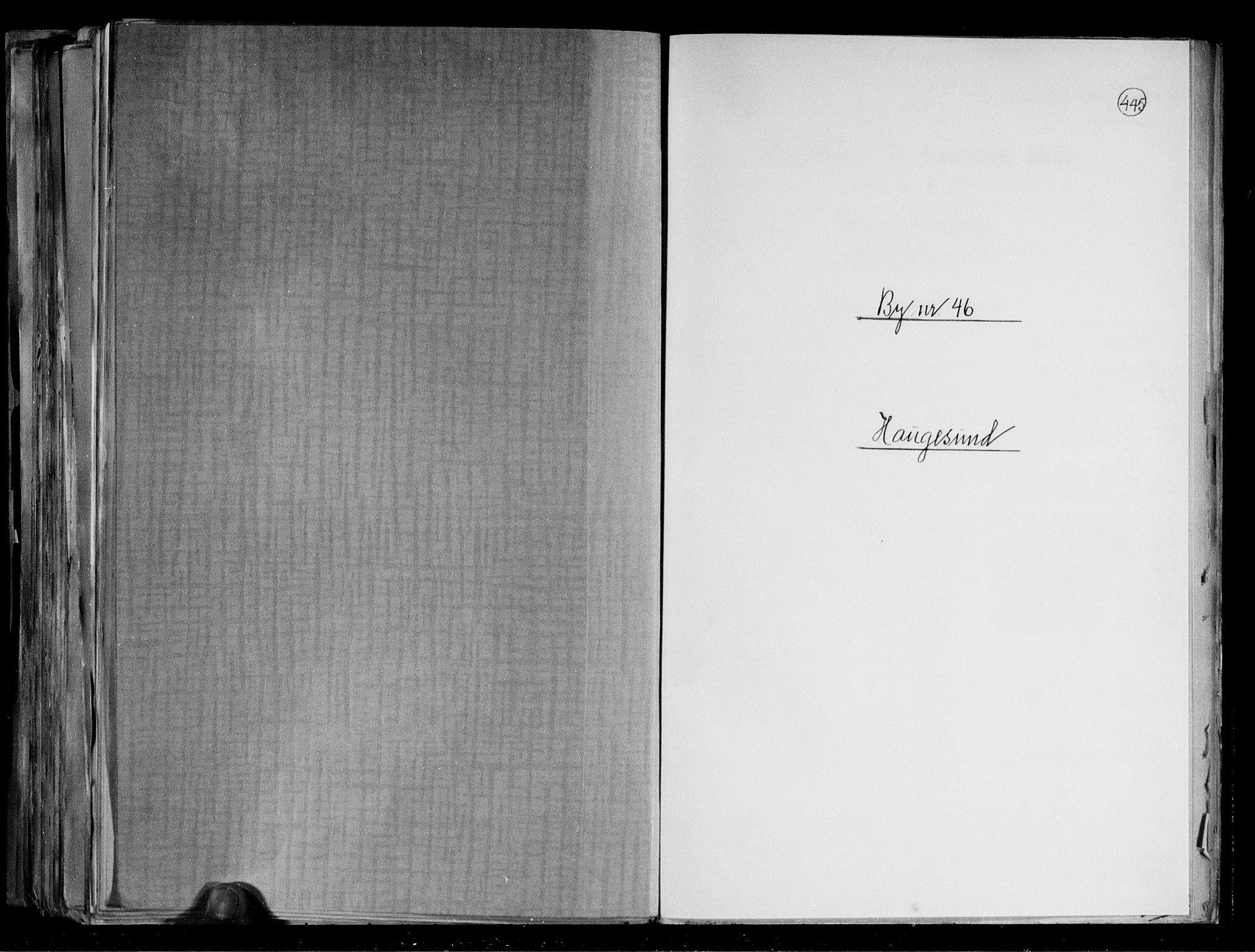 RA, Folketelling 1891 for 1106 Haugesund kjøpstad, 1891, s. 1