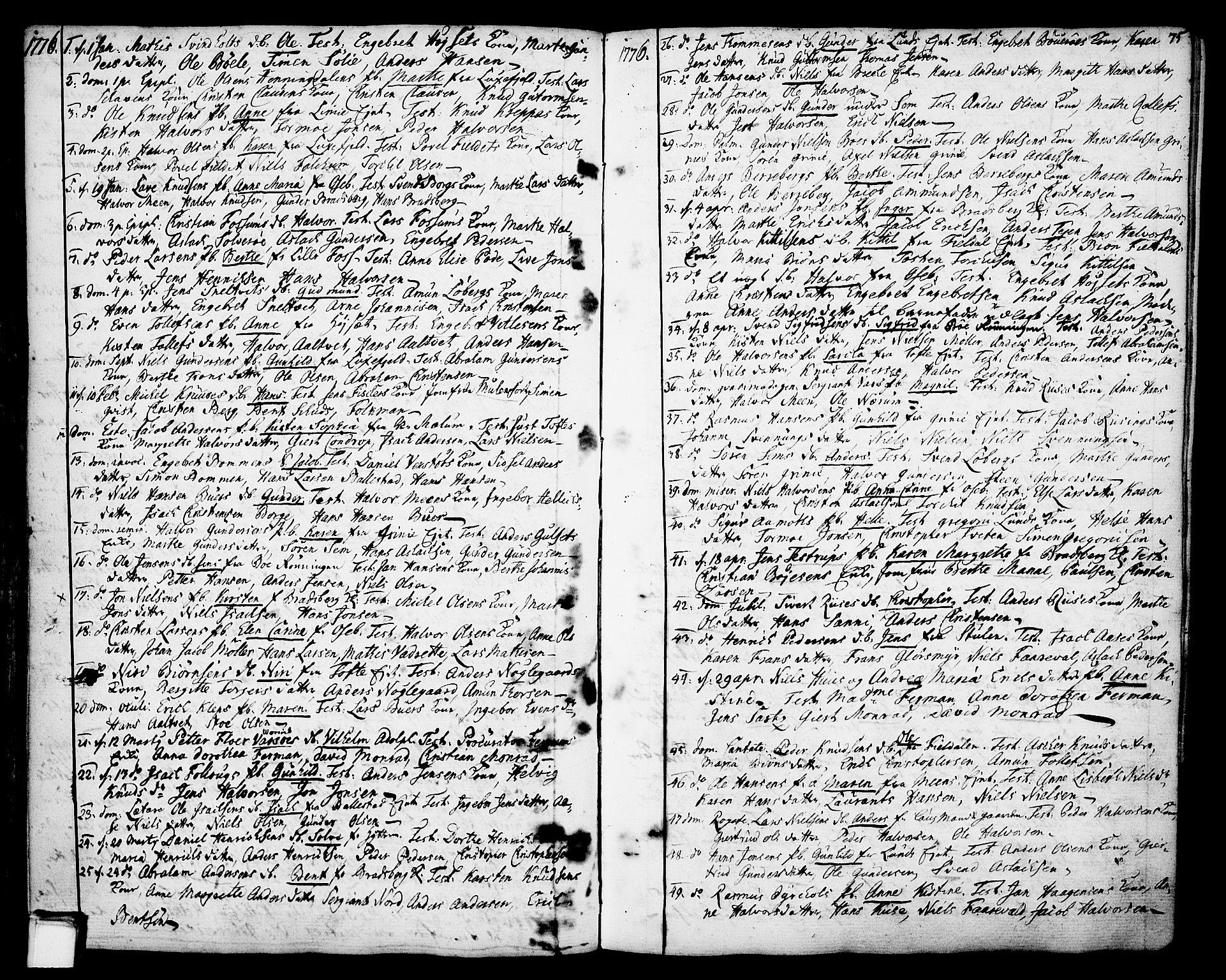 SAKO, Gjerpen kirkebøker, F/Fa/L0002: Ministerialbok nr. 2, 1747-1795, s. 75