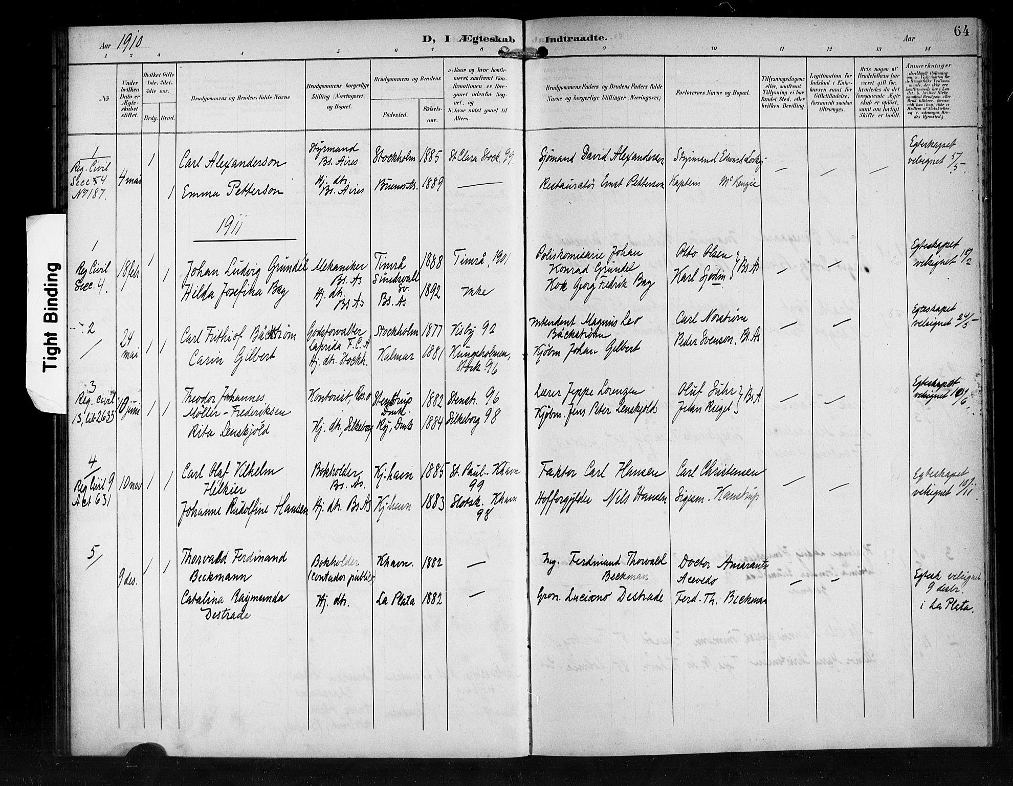 SAB, Den Norske Sjømannsmisjon i utlandet*, Ministerialbok nr. A 2, 1899-1919, s. 64