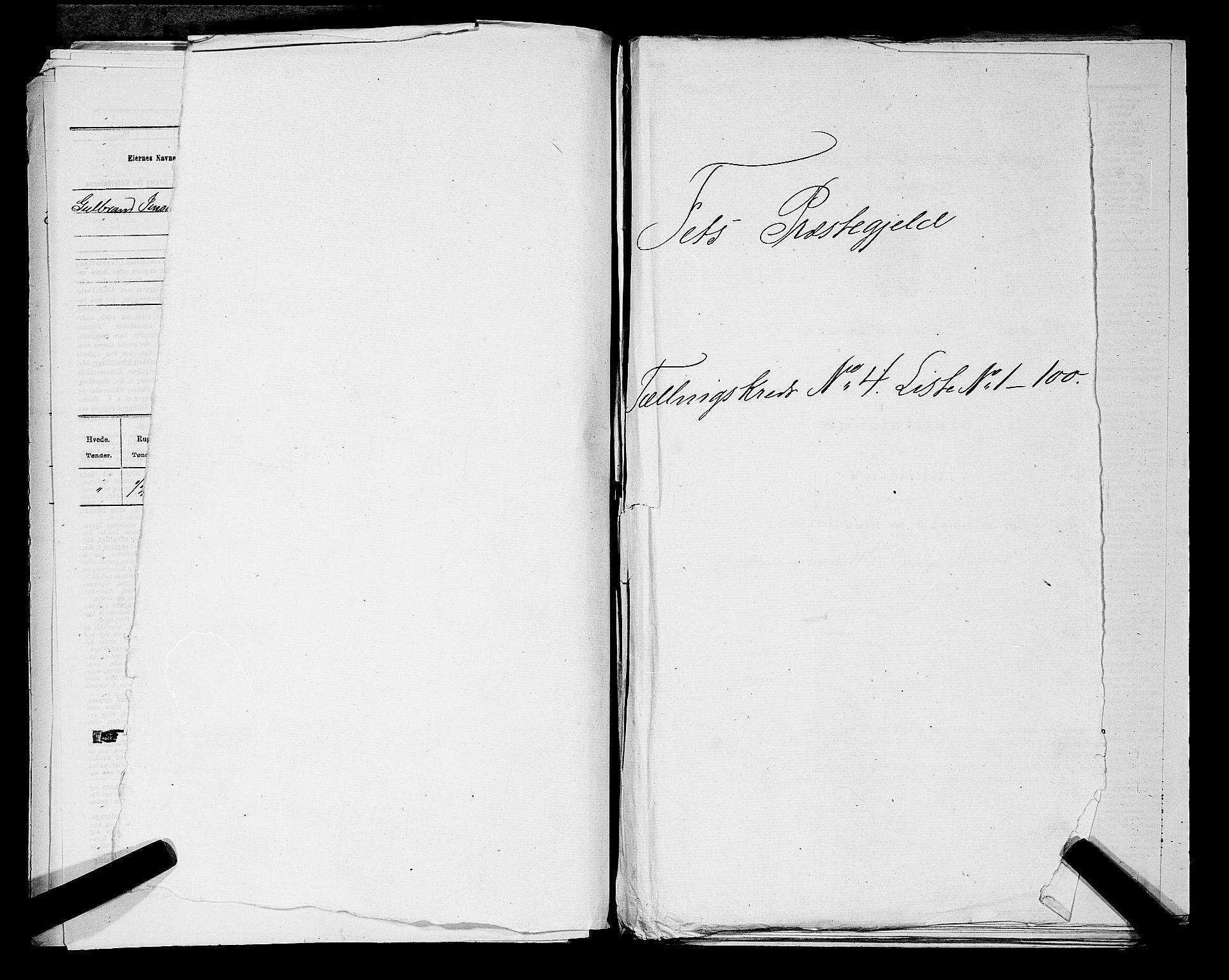 RA, Folketelling 1875 for 0227P Fet prestegjeld, 1875, s. 442