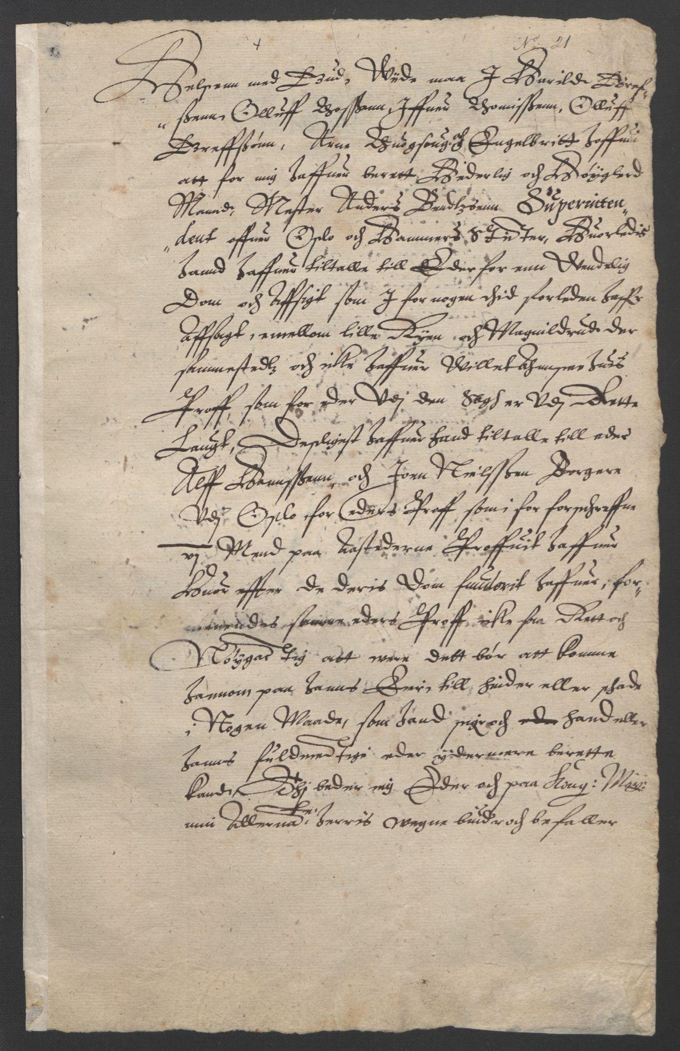 SAO, Oslo stiftsdireksjon, G/Gb/L0001: Bispestolens dokumenter, 1584-1612, s. 21
