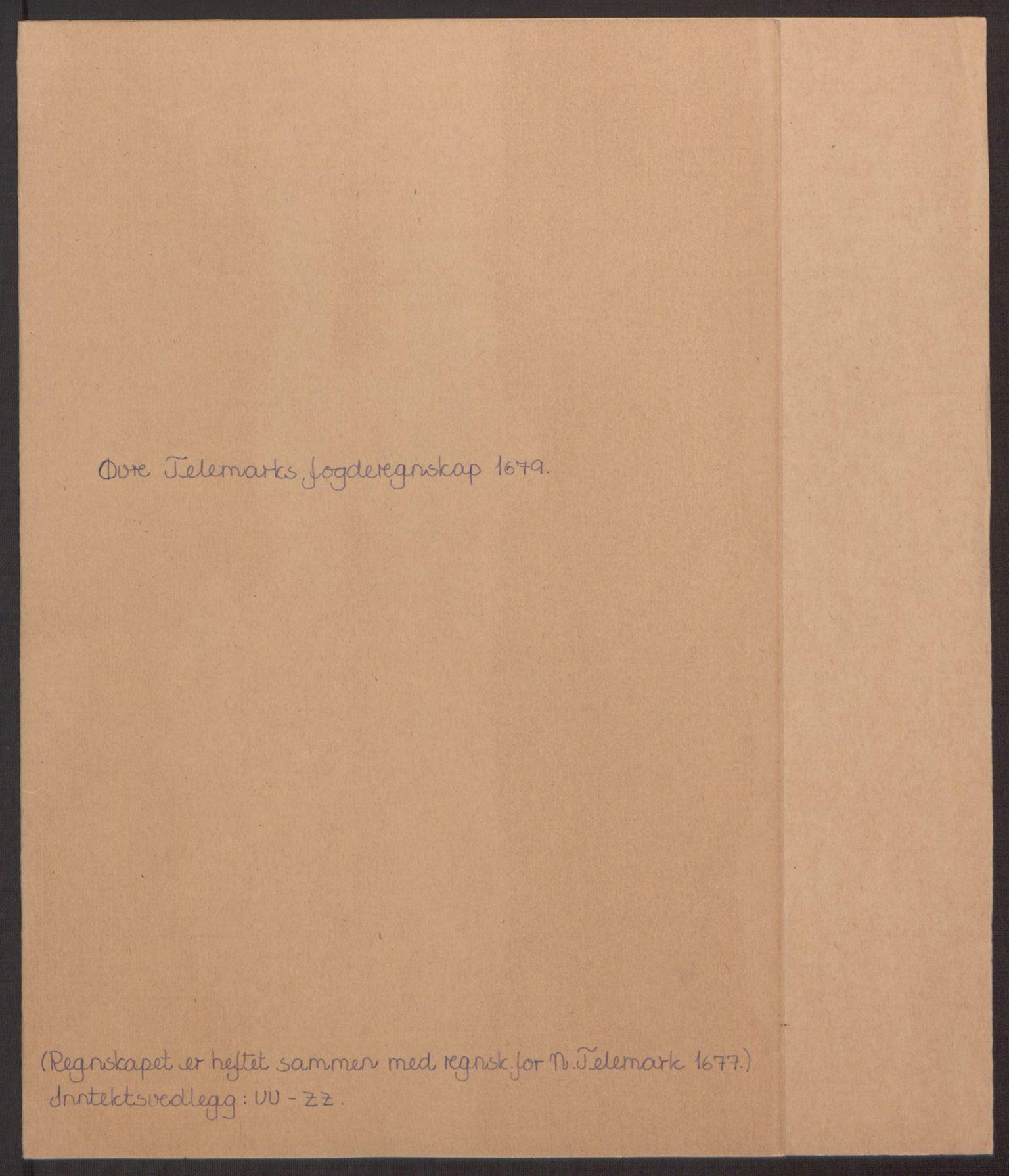 RA, Rentekammeret inntil 1814, Reviderte regnskaper, Fogderegnskap, R35/L2073: Fogderegnskap Øvre og Nedre Telemark, 1679, s. 2