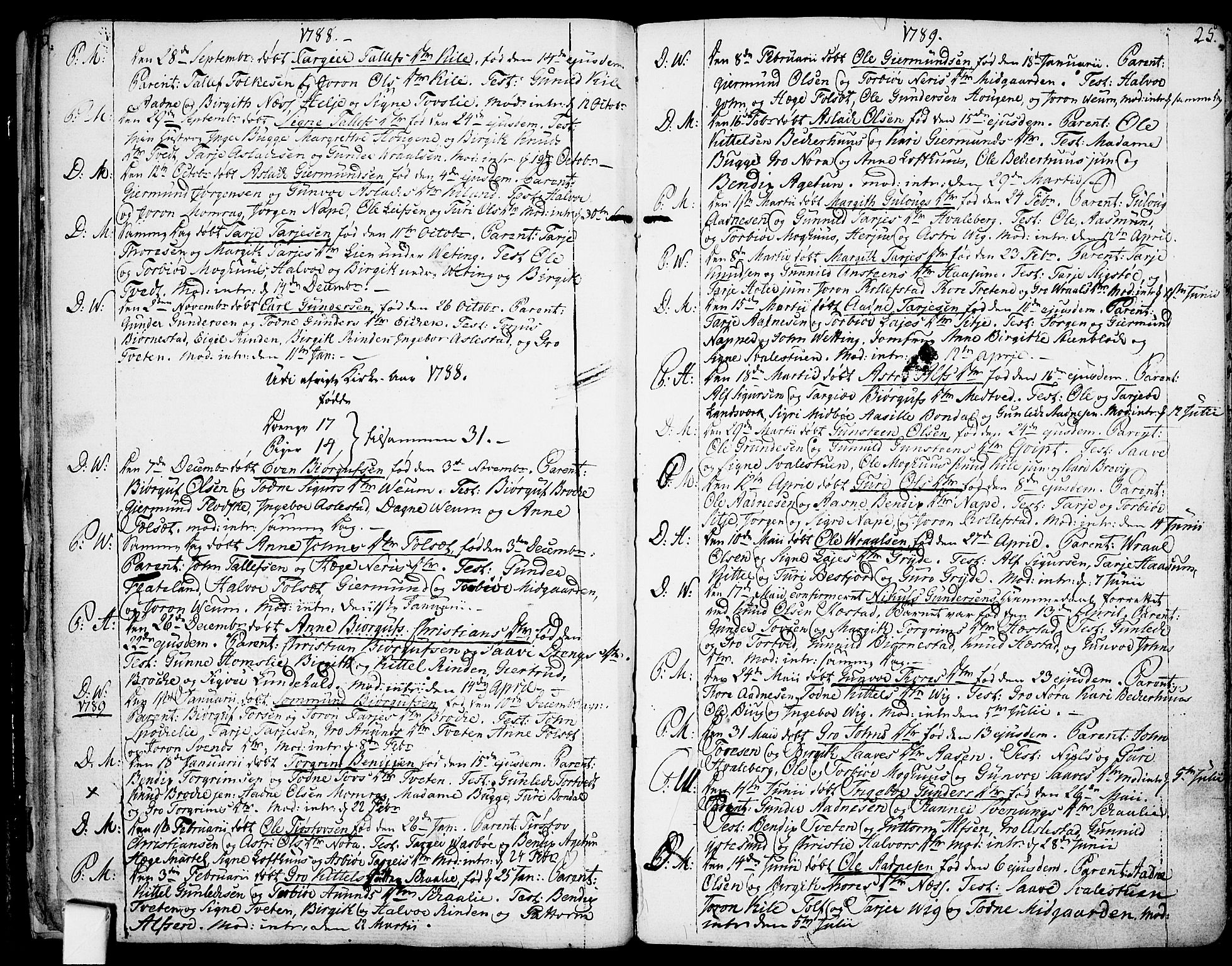SAKO, Fyresdal kirkebøker, F/Fa/L0002: Ministerialbok nr. I 2, 1769-1814, s. 25