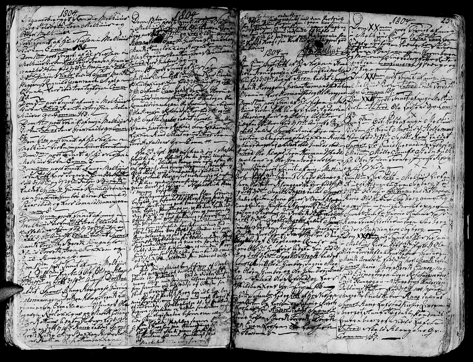 SAT, Ministerialprotokoller, klokkerbøker og fødselsregistre - Sør-Trøndelag, 691/L1061: Ministerialbok nr. 691A02 /1, 1768-1815, s. 25