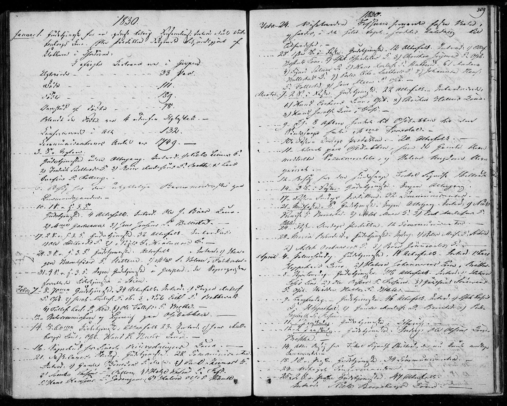 SAKO, Gjerpen kirkebøker, F/Fa/L0006: Ministerialbok nr. 6, 1829-1834, s. 309