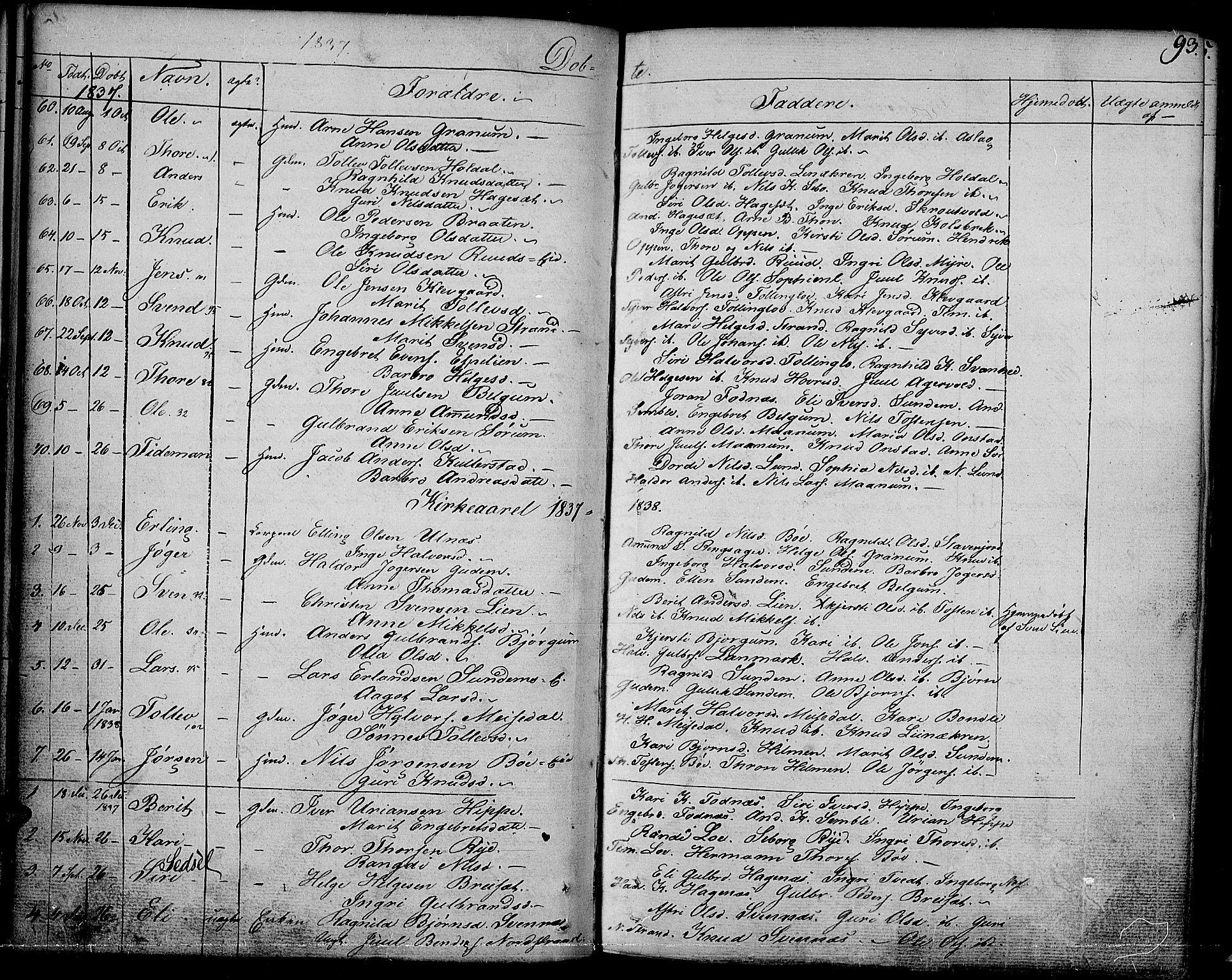 SAH, Nord-Aurdal prestekontor, Ministerialbok nr. 3, 1828-1841, s. 93