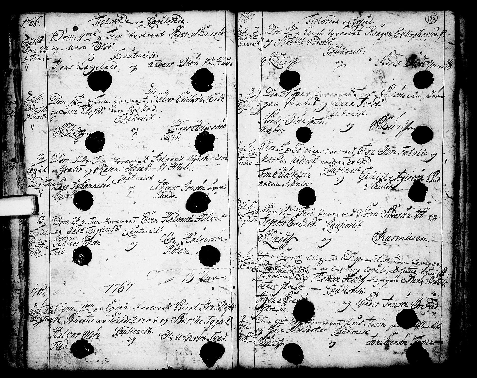 SAKO, Holla kirkebøker, F/Fa/L0001: Ministerialbok nr. 1, 1717-1779, s. 185