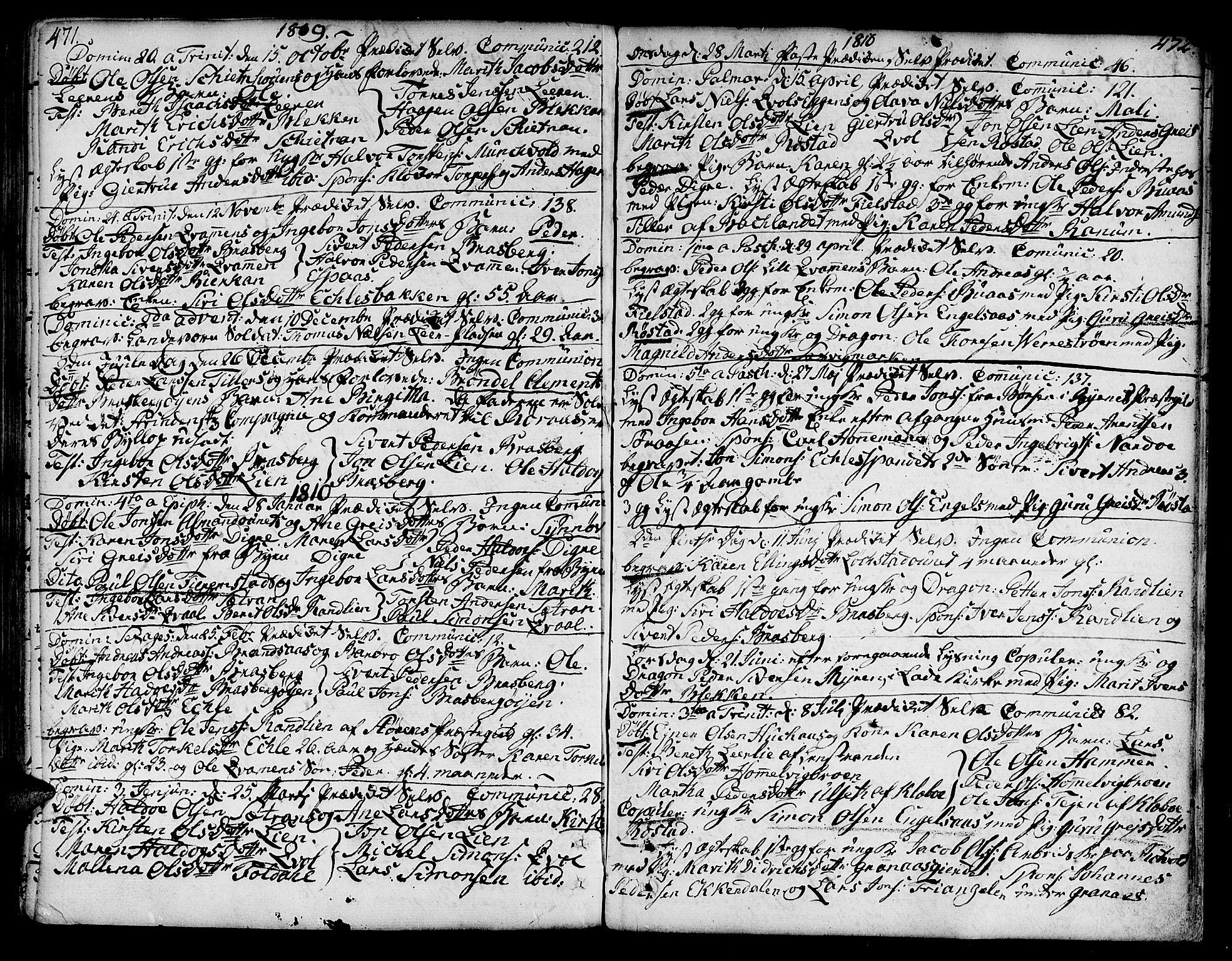 SAT, Ministerialprotokoller, klokkerbøker og fødselsregistre - Sør-Trøndelag, 606/L0282: Ministerialbok nr. 606A02 /3, 1781-1817, s. 471-472
