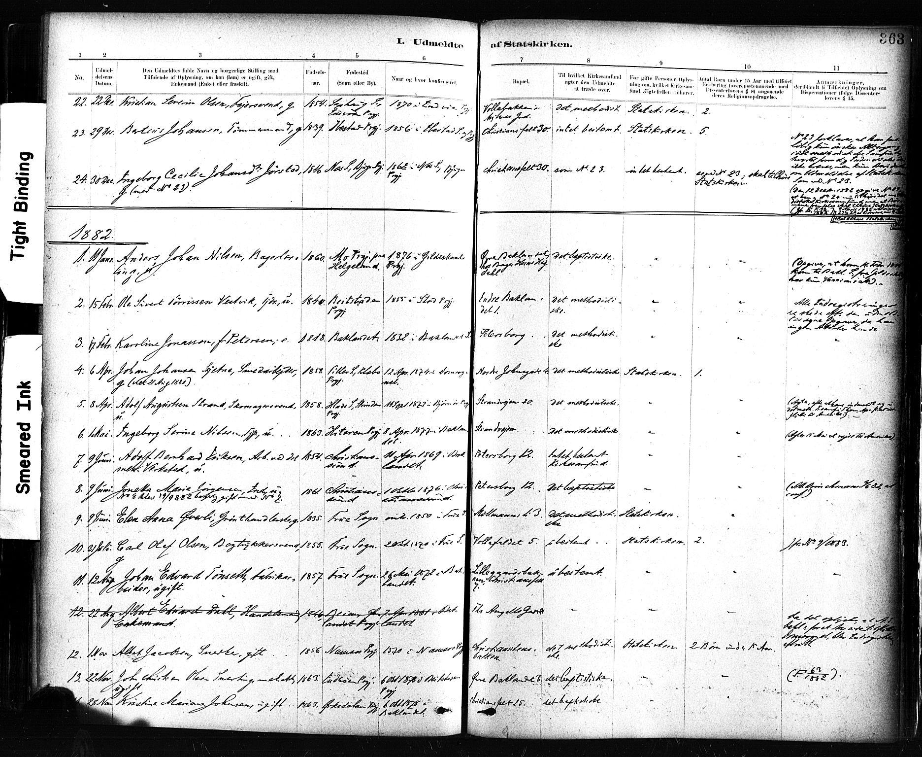 SAT, Ministerialprotokoller, klokkerbøker og fødselsregistre - Sør-Trøndelag, 604/L0189: Ministerialbok nr. 604A10, 1878-1892, s. 363