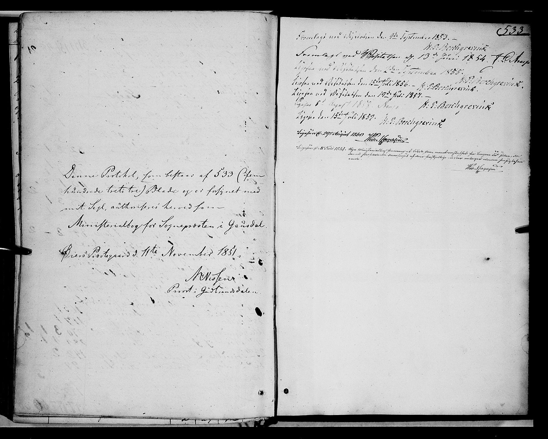 SAH, Gausdal prestekontor, Ministerialbok nr. 8, 1850-1861, s. 533