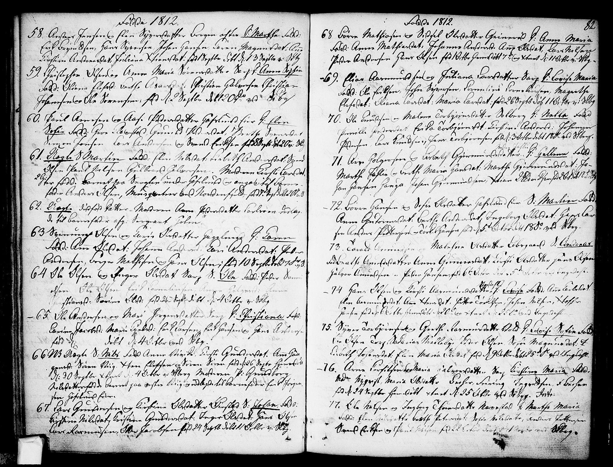 SAO, Skjeberg prestekontor Kirkebøker, F/Fa/L0003: Ministerialbok nr. I 3, 1792-1814, s. 82
