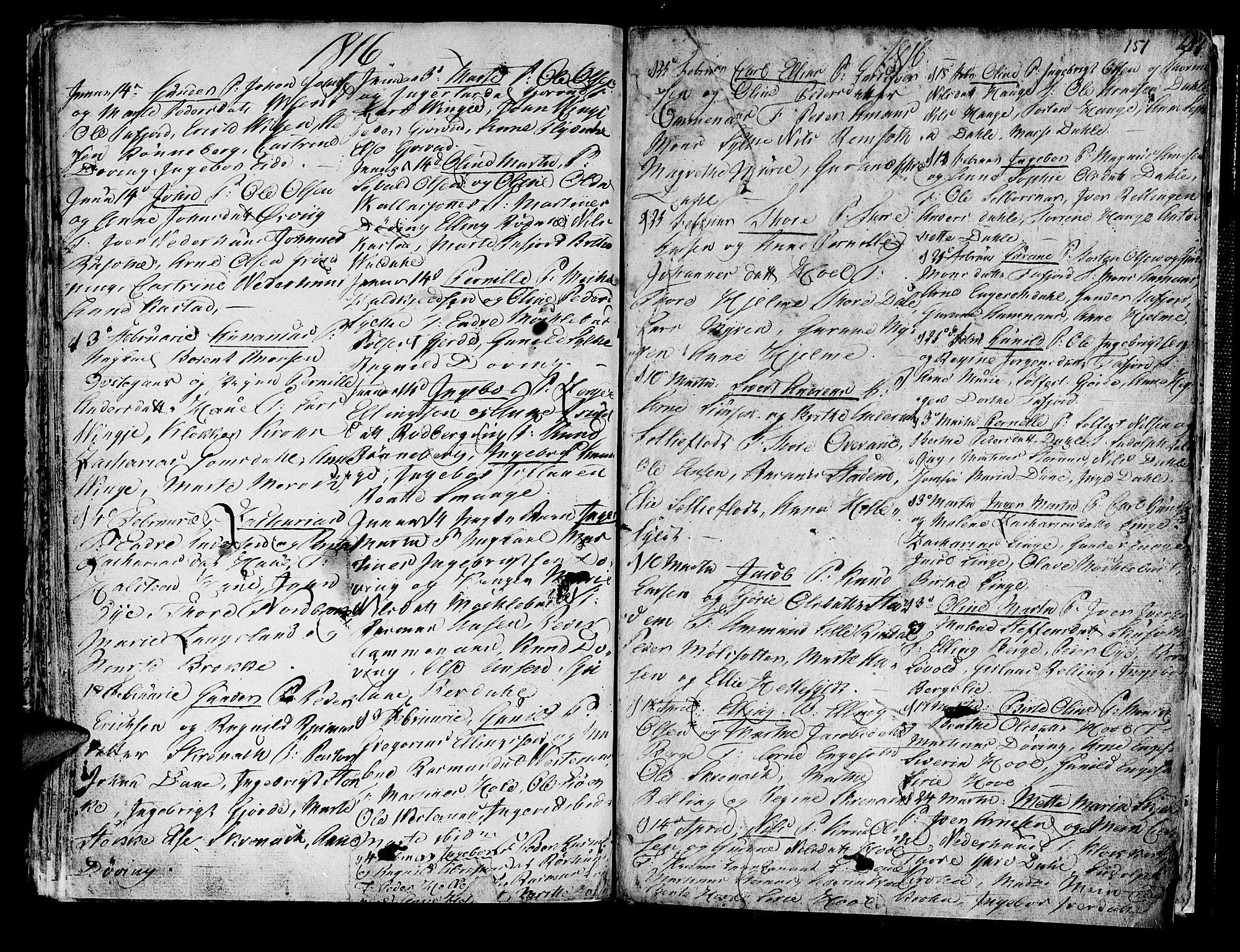 SAT, Ministerialprotokoller, klokkerbøker og fødselsregistre - Møre og Romsdal, 519/L0245: Ministerialbok nr. 519A04, 1774-1816, s. 151