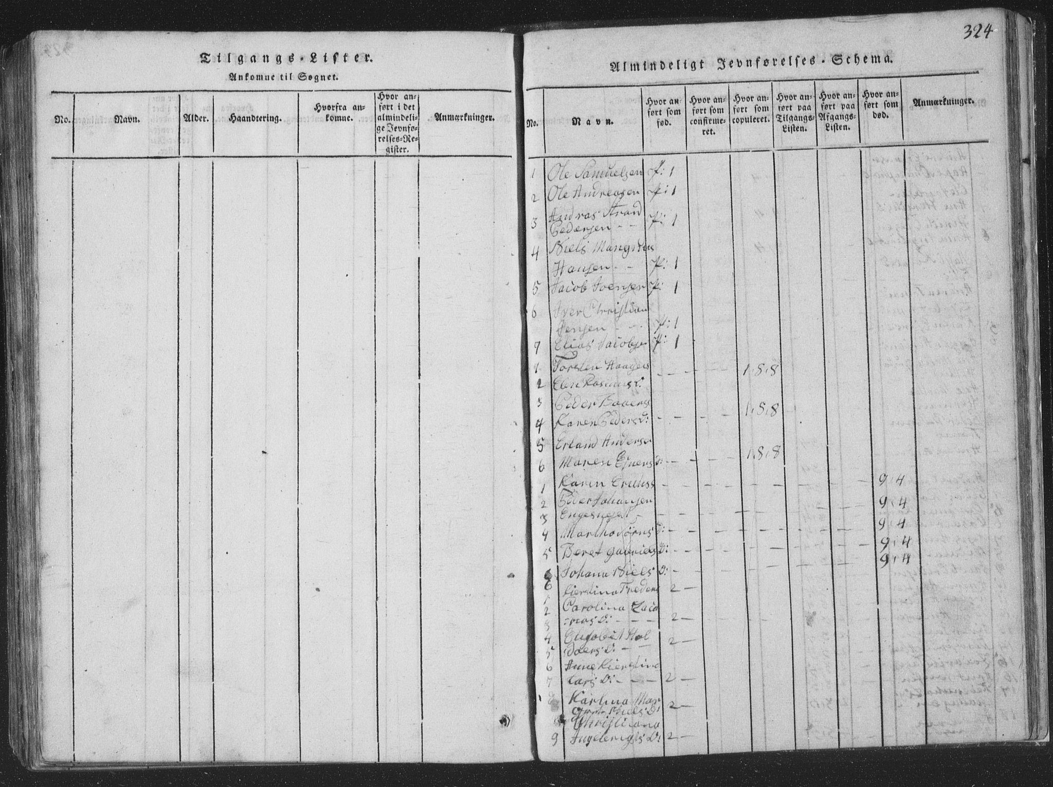 SAT, Ministerialprotokoller, klokkerbøker og fødselsregistre - Nord-Trøndelag, 773/L0613: Ministerialbok nr. 773A04, 1815-1845, s. 324