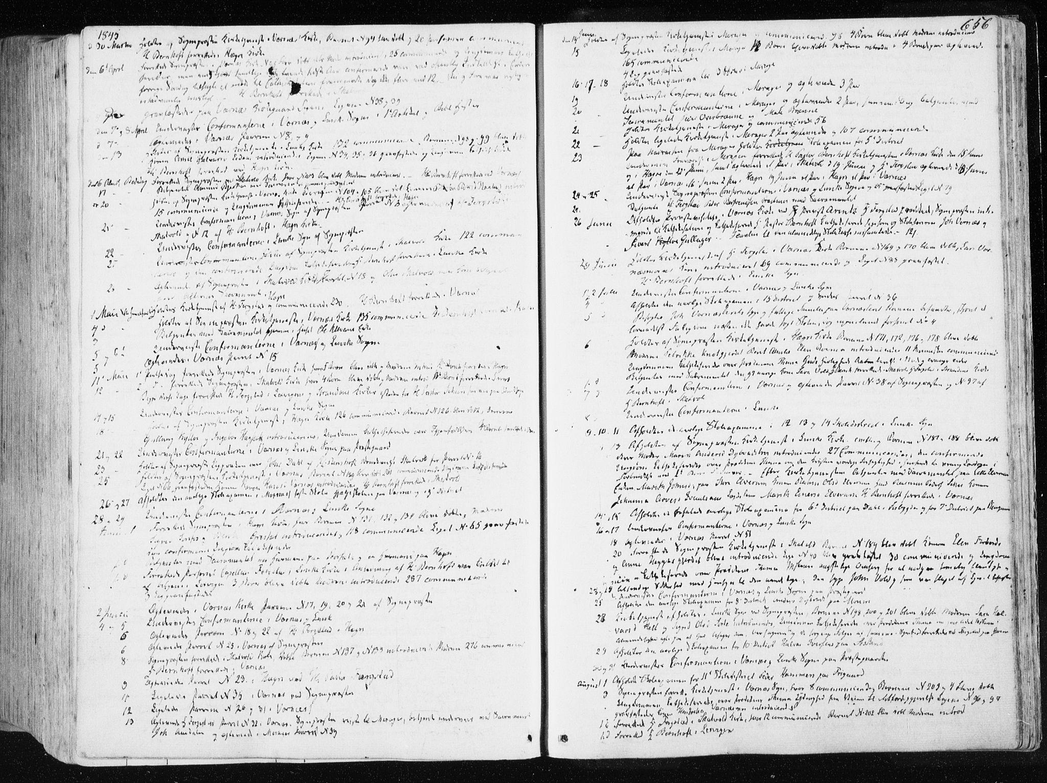 SAT, Ministerialprotokoller, klokkerbøker og fødselsregistre - Nord-Trøndelag, 709/L0074: Ministerialbok nr. 709A14, 1845-1858, s. 656