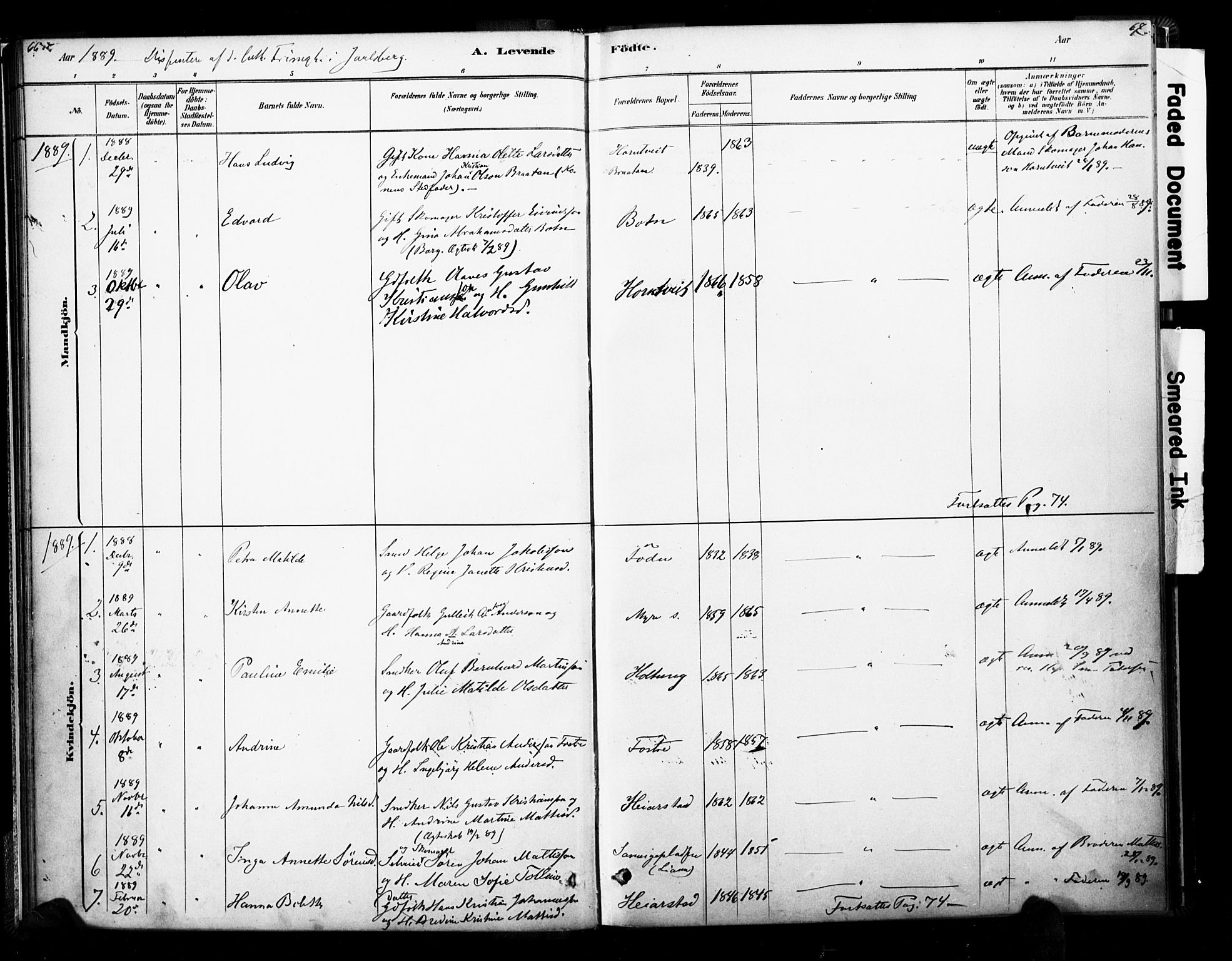 SAKO, Ramnes kirkebøker, F/Fb/L0001: Ministerialbok nr. II 1, 1878-1894, s. 66-67