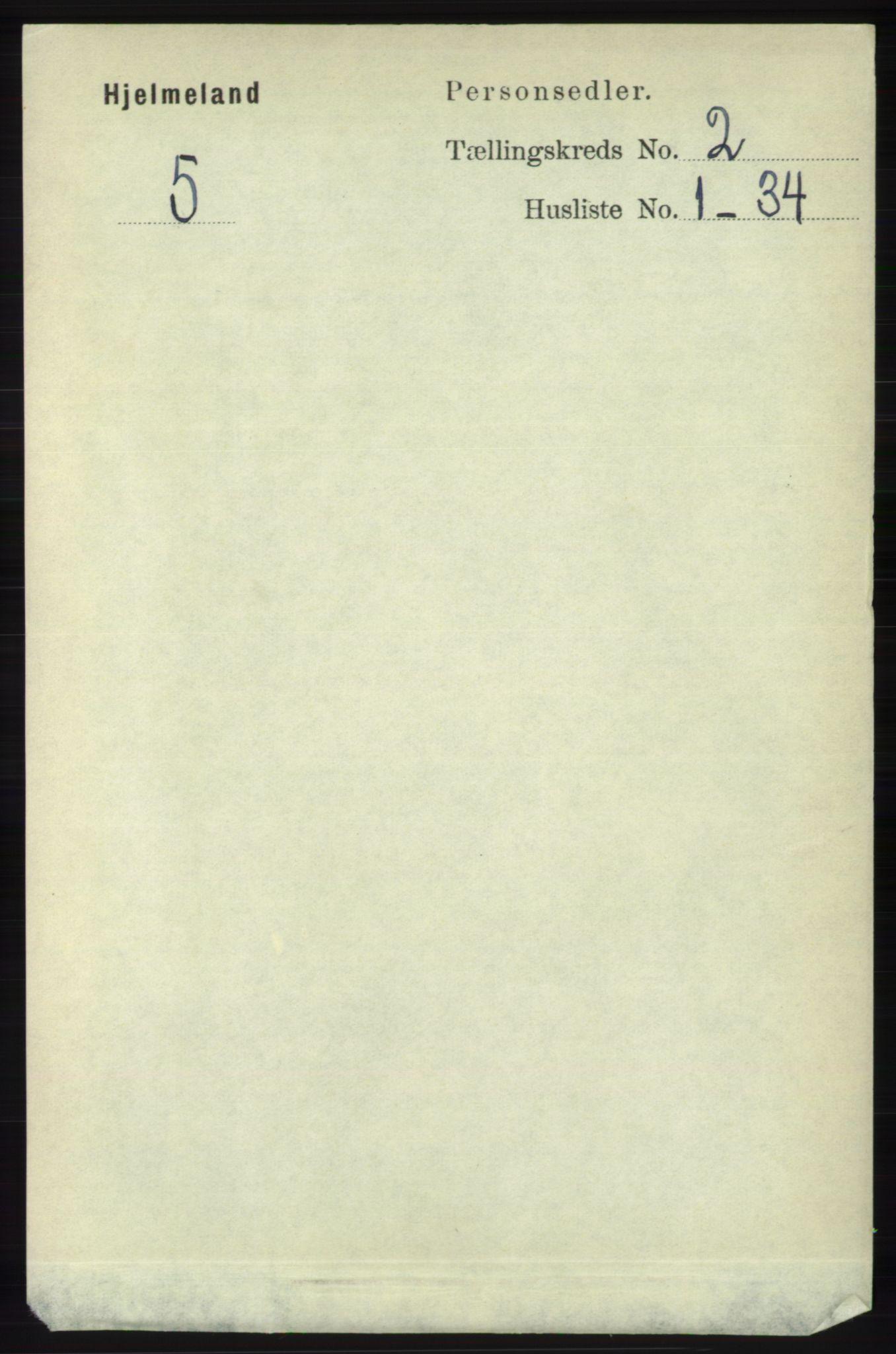 RA, Folketelling 1891 for 1133 Hjelmeland herred, 1891, s. 383