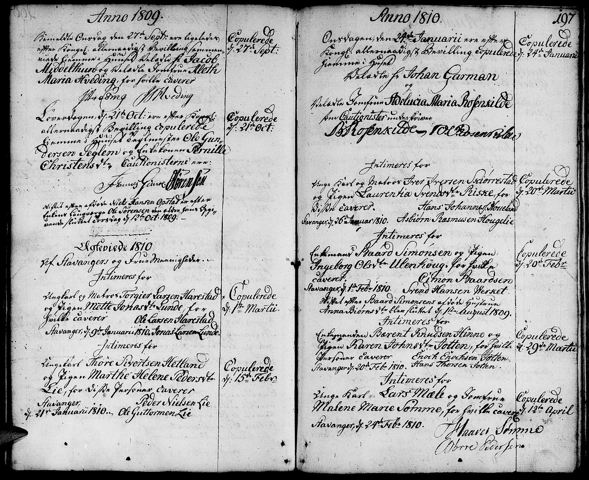 SAST, Domkirken sokneprestkontor, 30/30BA/L0006: Ministerialbok nr. A 6, 1783-1815, s. 197