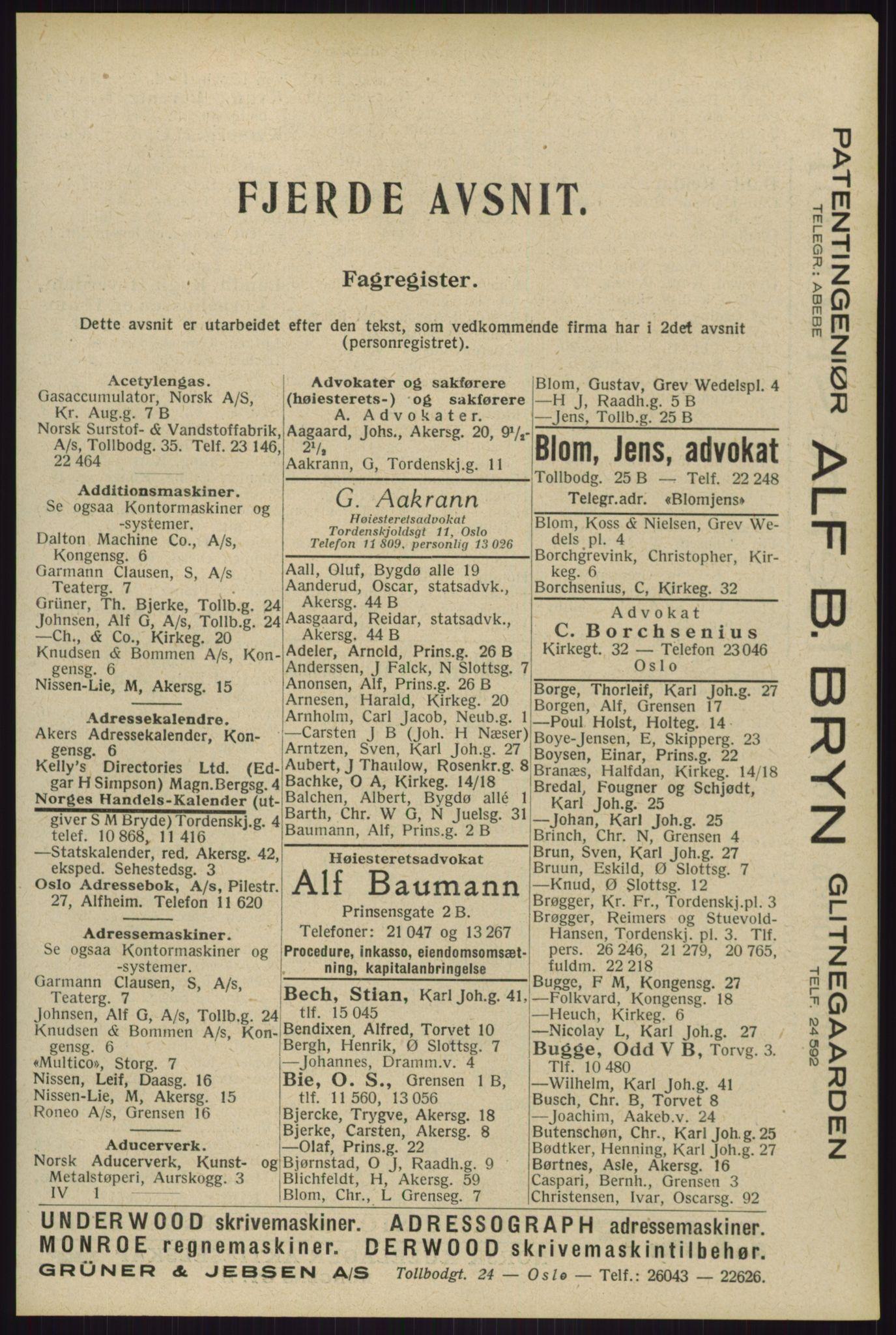 RA, Oslo adressebok (publikasjon)*, 1929, s. 2013