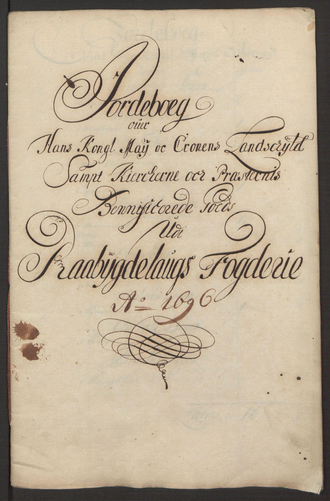 RA, Rentekammeret inntil 1814, Reviderte regnskaper, Fogderegnskap, R40/L2444: Fogderegnskap Råbyggelag, 1693-1696, s. 304