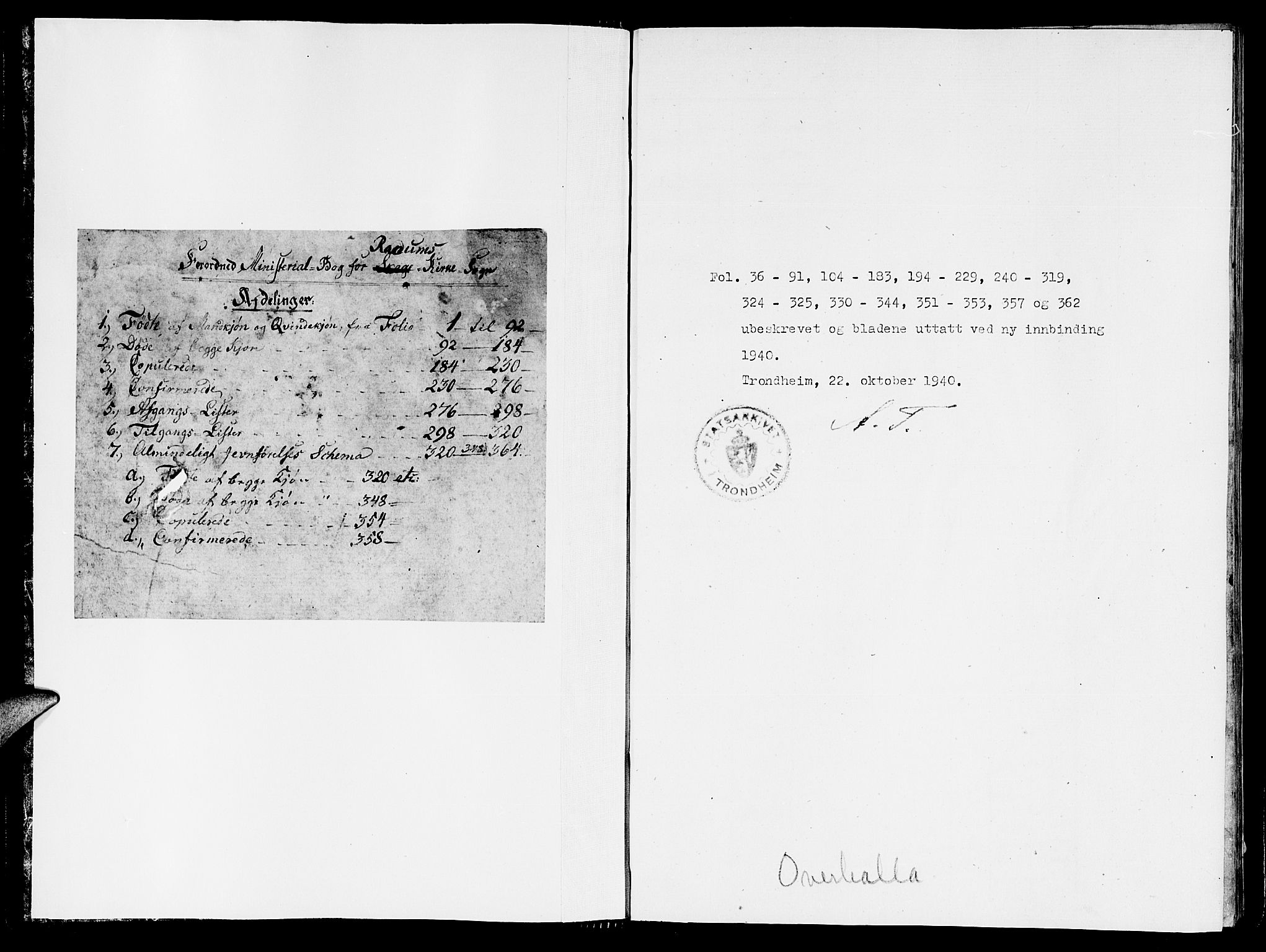 SAT, Ministerialprotokoller, klokkerbøker og fødselsregistre - Nord-Trøndelag, 764/L0559: Klokkerbok nr. 764C01, 1816-1824